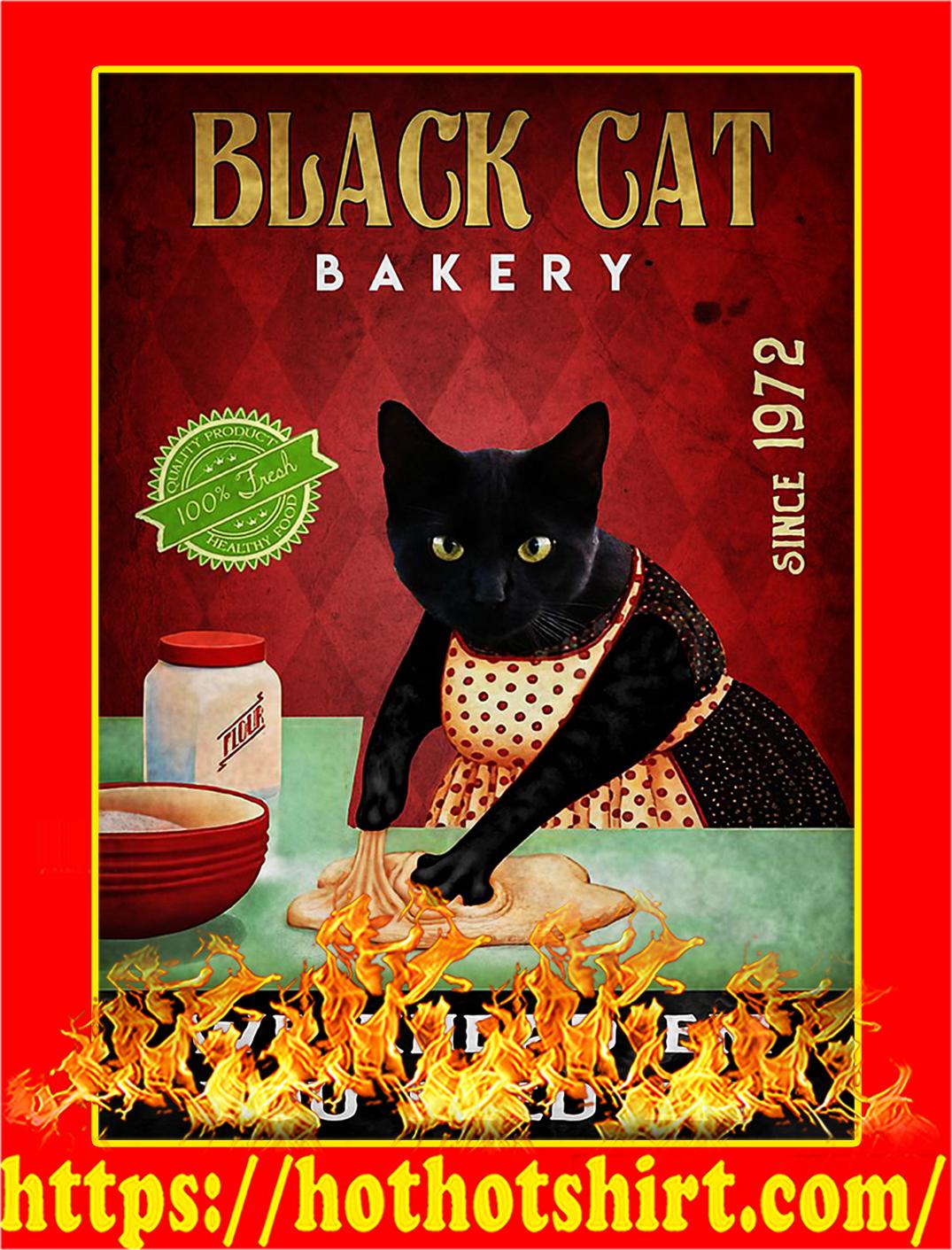 Black cat bakery we knead em you need em poster - A1