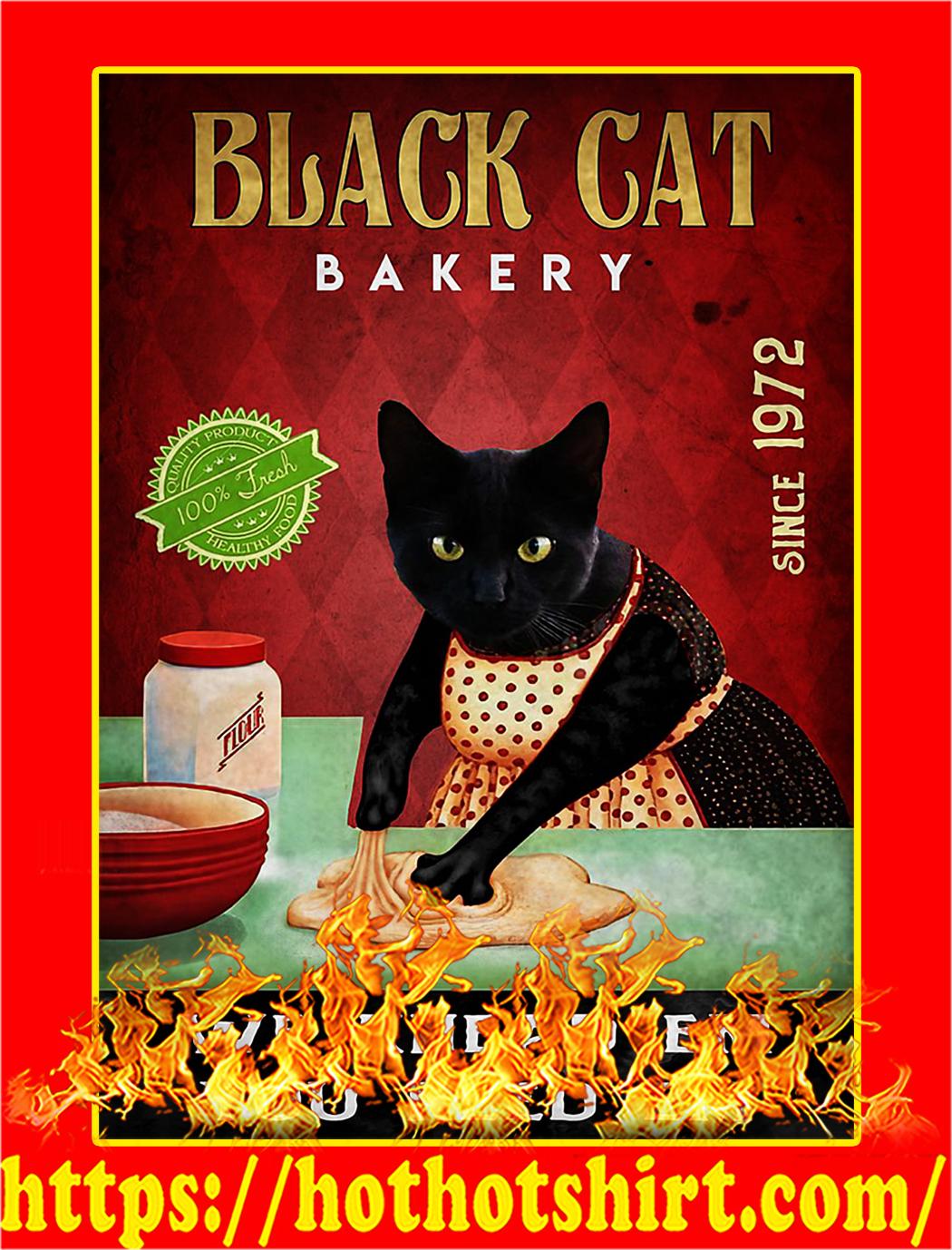 Black cat bakery we knead em you need em poster - A2