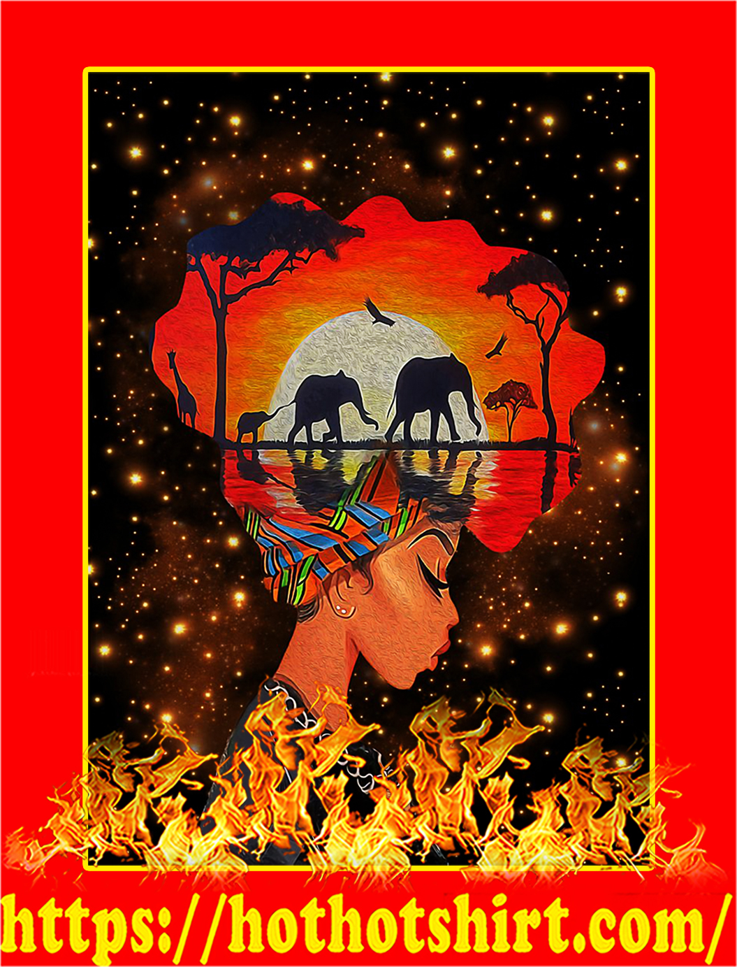 Black queen nature poster - A1