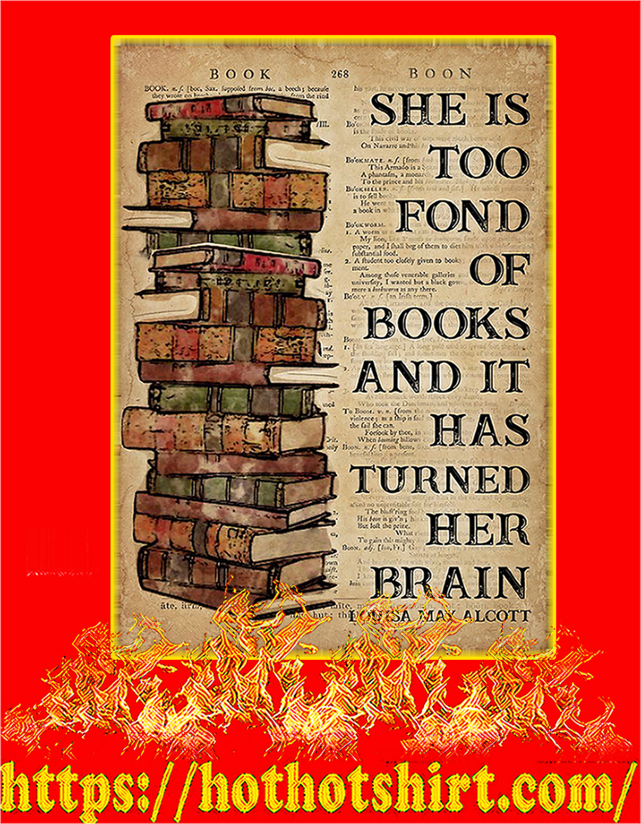 Book she is too fond of books poster - A2