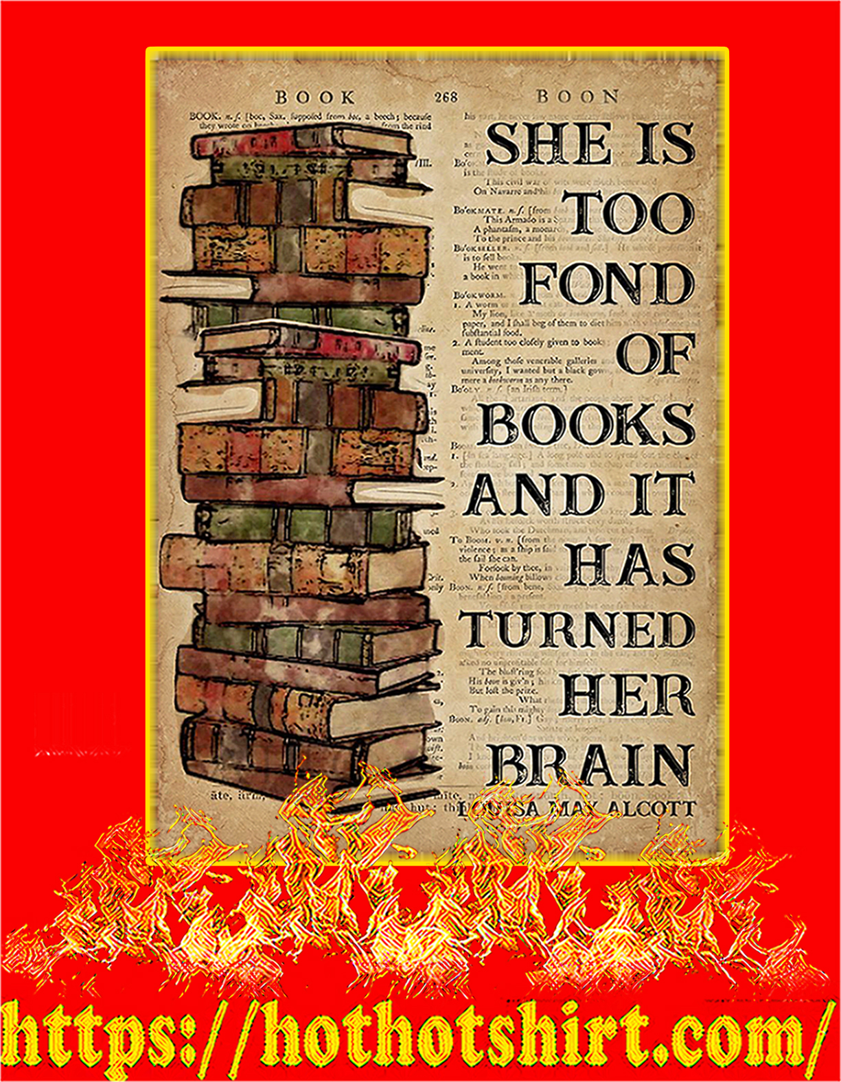 Book she is too fond of books poster - A4
