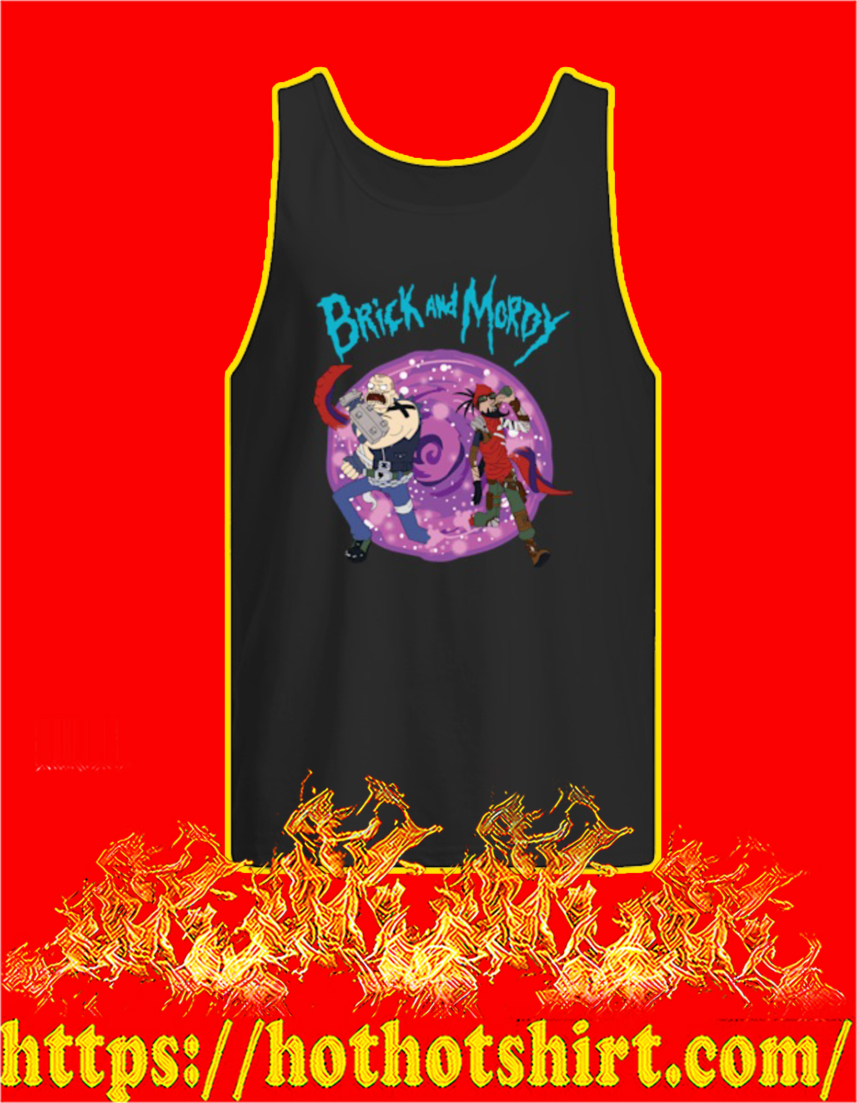 Brick and mordy tank top