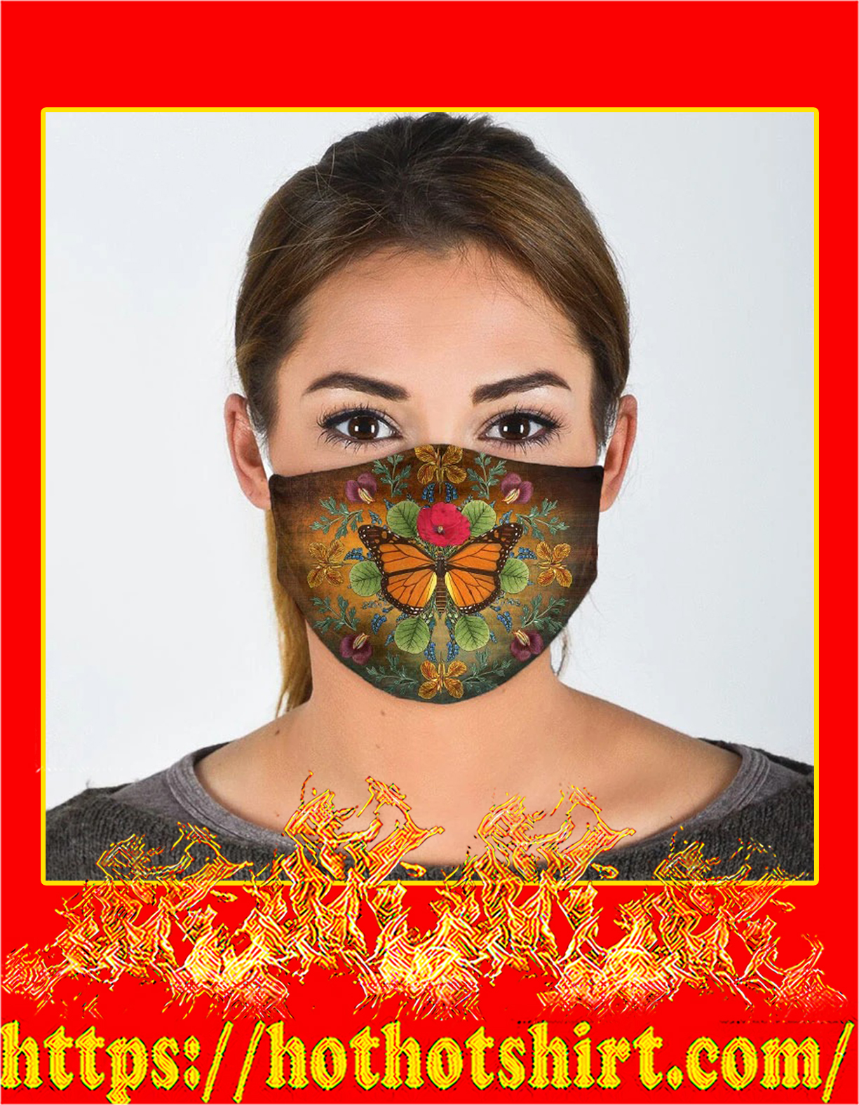 Butterfly all over prints face mask - pic 1