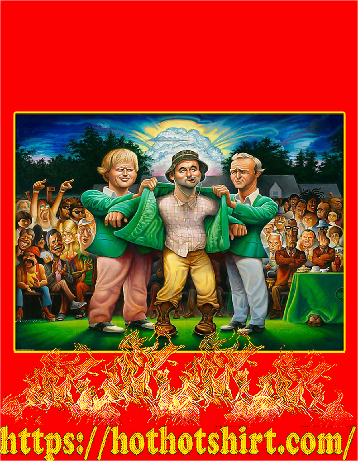 Caddyshack the green jacket poster - A3