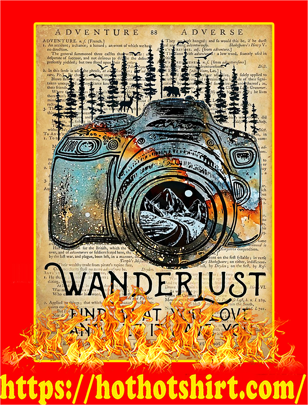 Camera Wanderlust find what you love poster