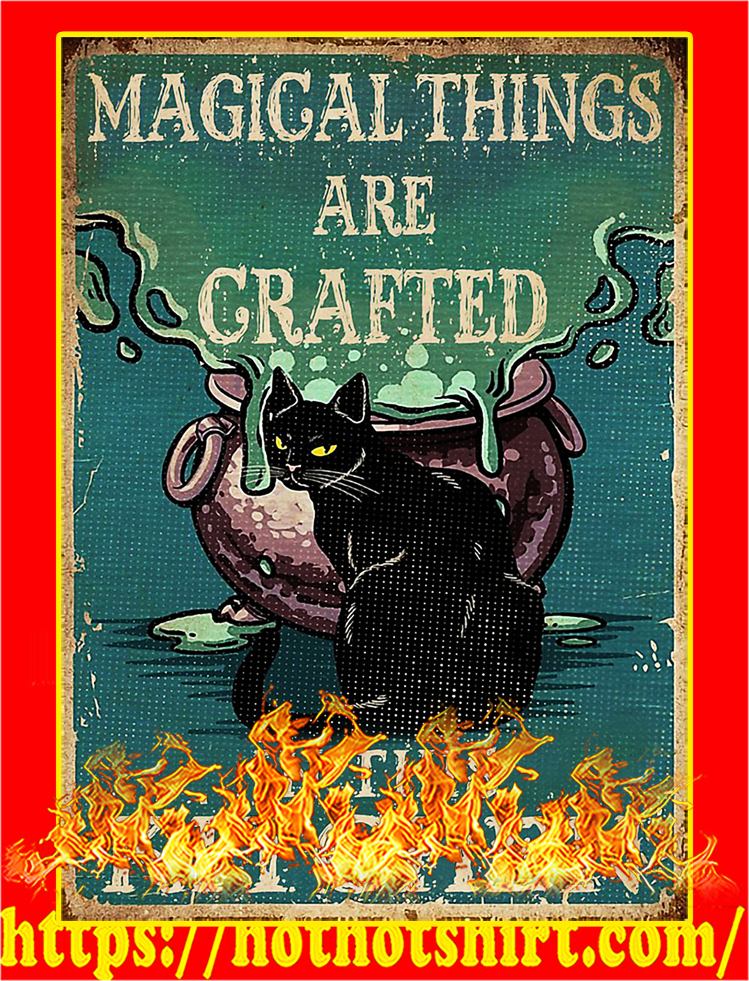 Cat magical things are grafted in this kitchen poster - A2
