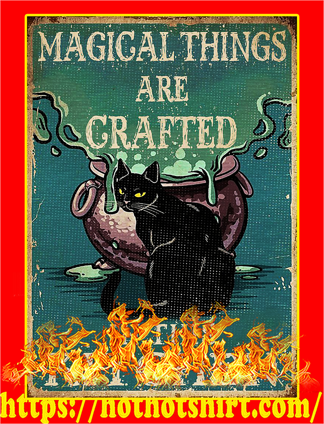 Cat magical things are grafted in this kitchen poster - A4