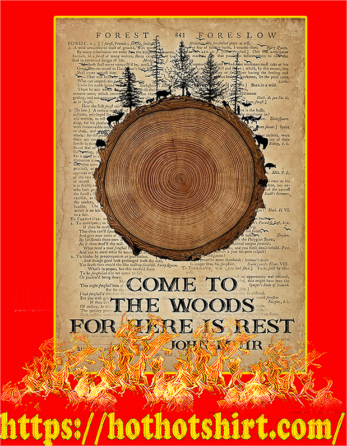 Come to the woods for here is rest poster - A2