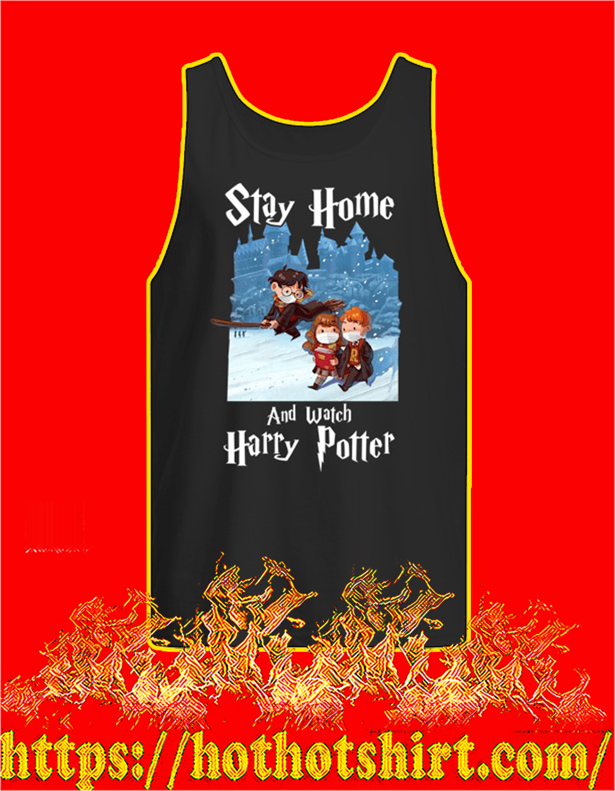Covid 19 Stay home and watch harry potter tank top