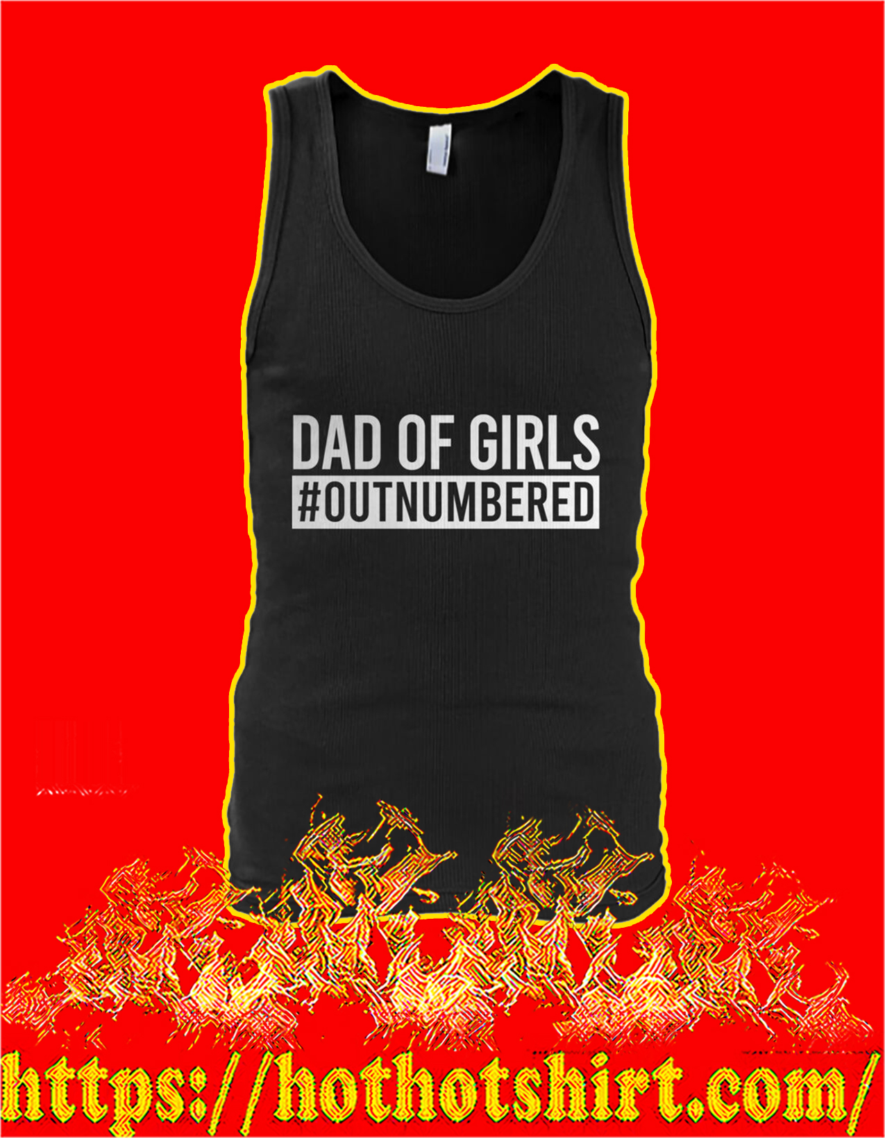 Dad of girls outnumbered tank top
