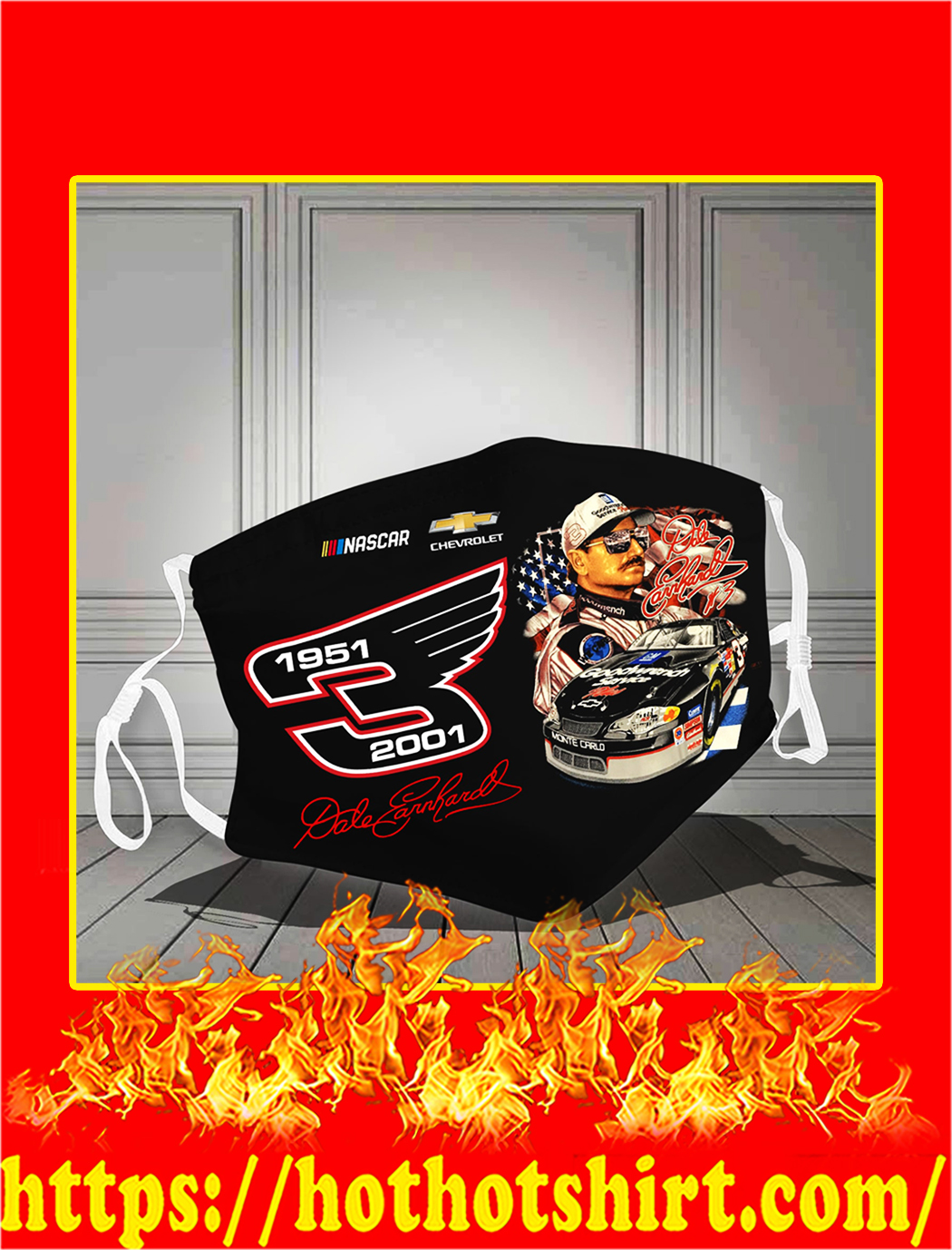 Dale earnhardt 1951 2001 face mask- pic 1