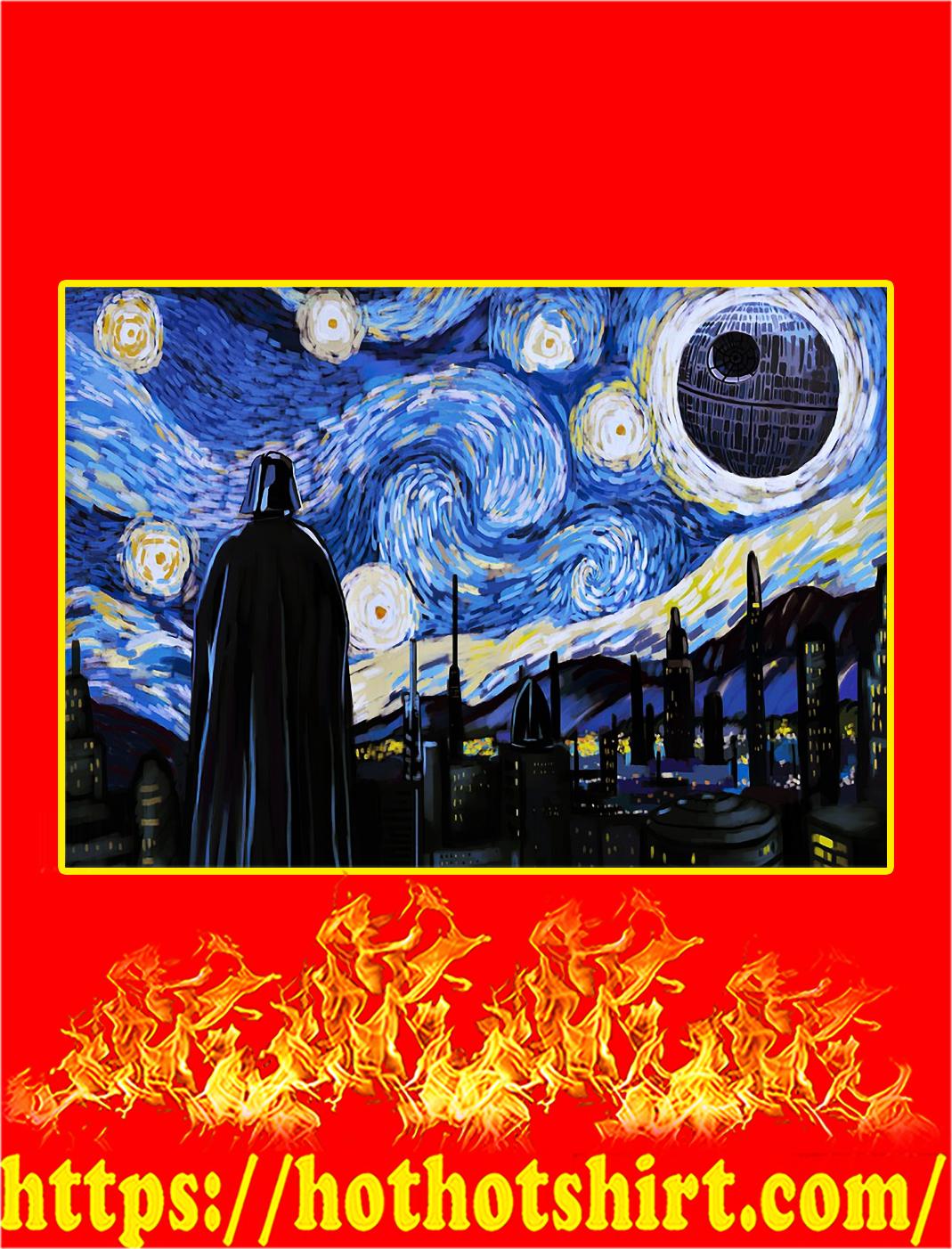 Darth vader starry night poster