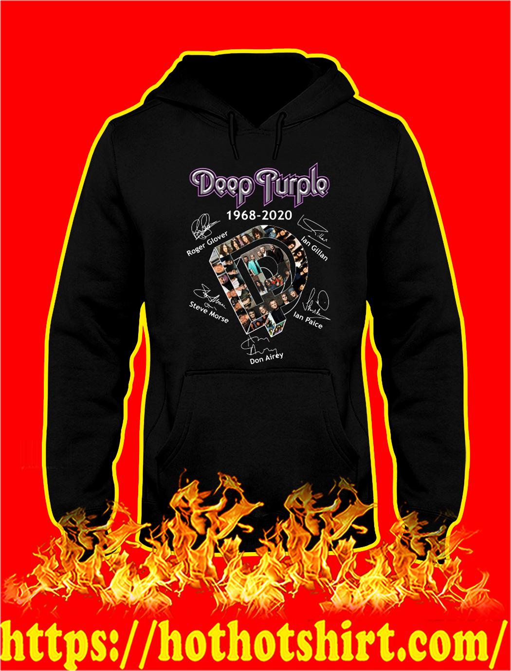 Deep purple 1968 2020 signature hoodie
