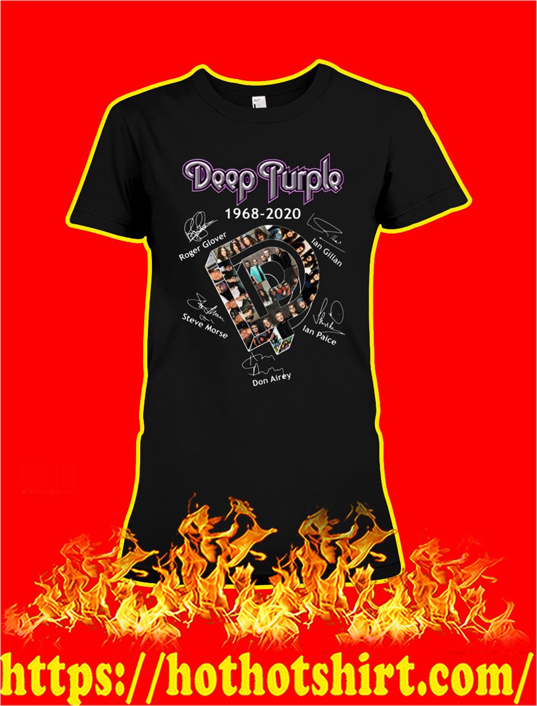 Deep purple 1968 2020 signature lady shirt