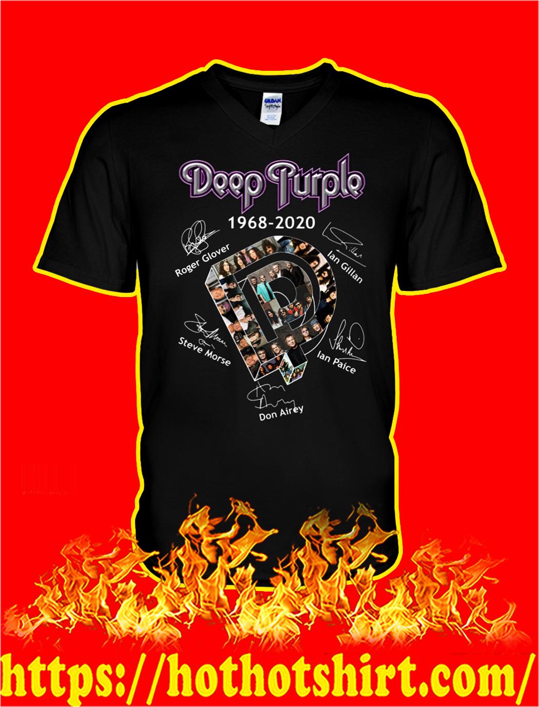 Deep purple 1968 2020 signature v-neck