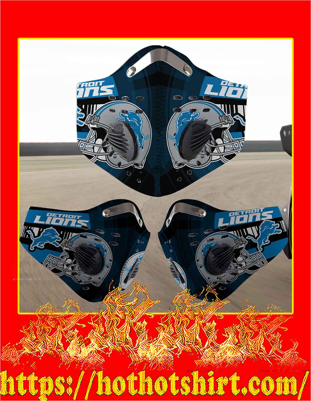 Detroit Lions filter face mask - Detail