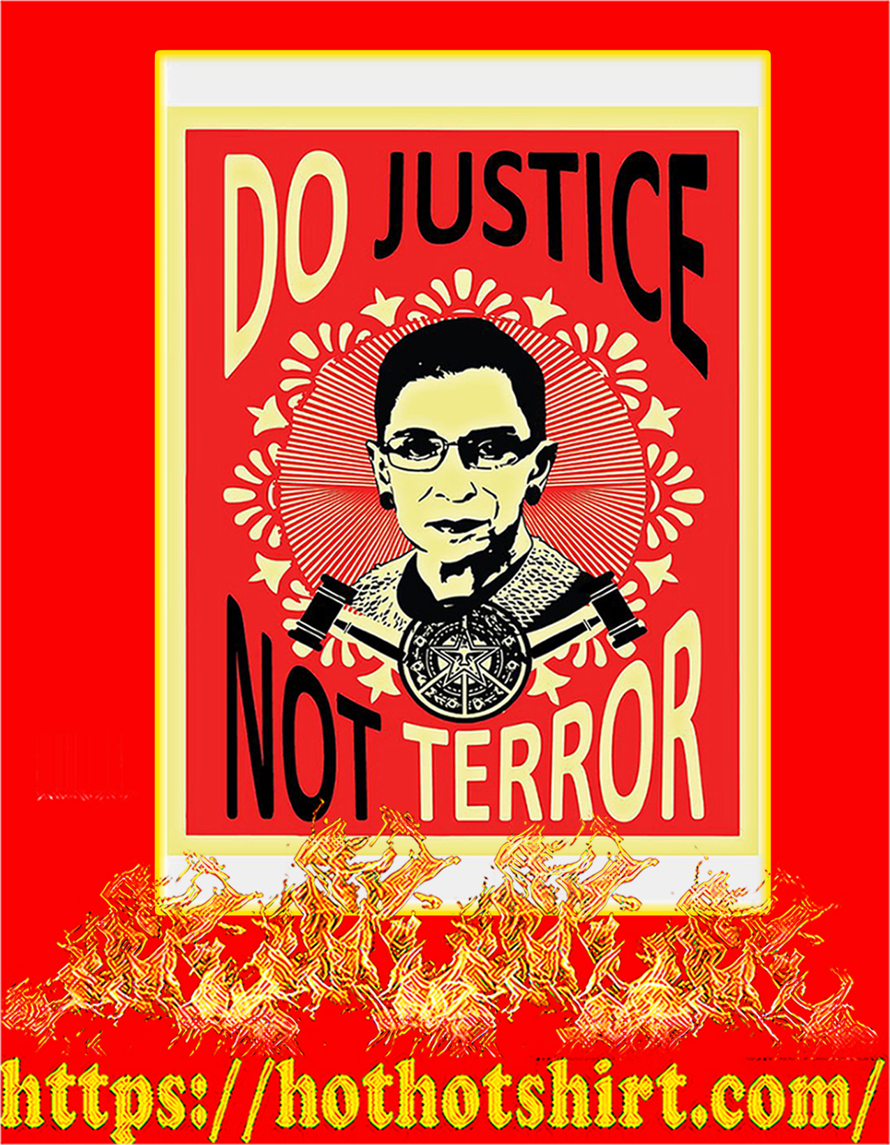 Do justice not terror Ruth bader ginsburg poster - A2