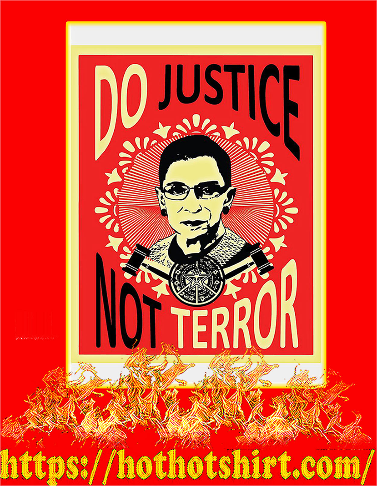 Do justice not terror Ruth bader ginsburg poster - A3