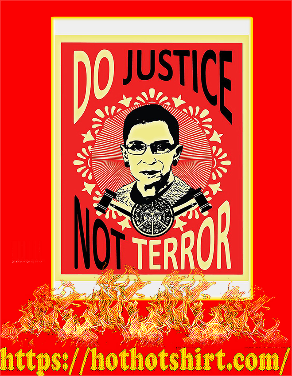 Do justice not terror Ruth bader ginsburg poster - A4