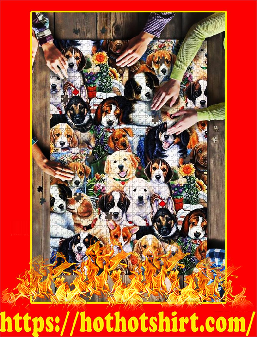 Dog Breeds Garden Jigsaw Puzzle - 500 pieces