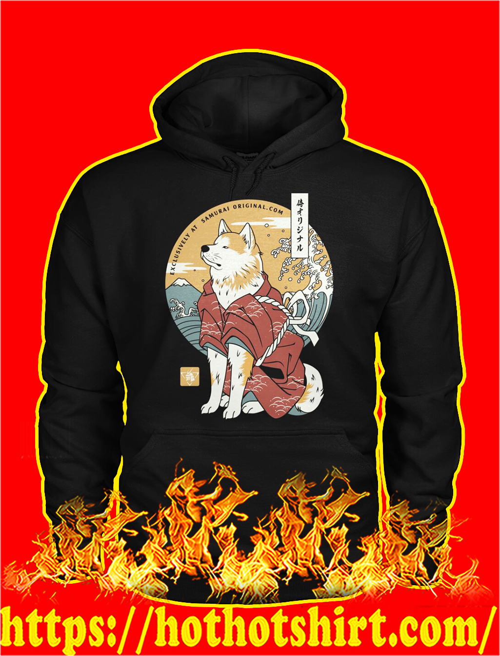 Dog akita samurai hoodie