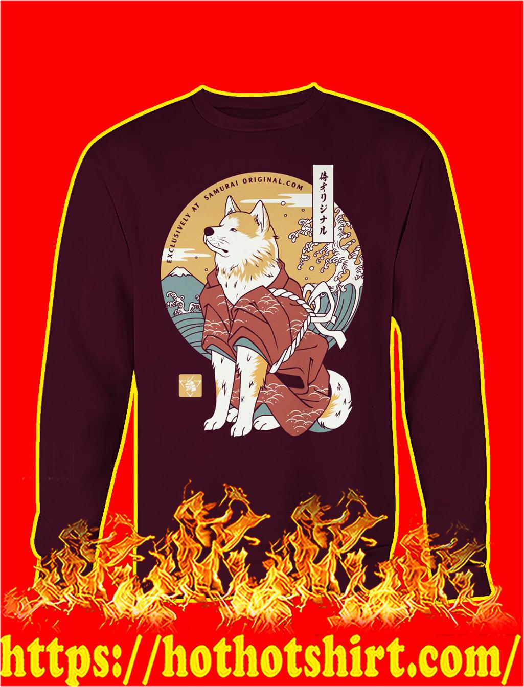 Dog akita samurai sweatshirt