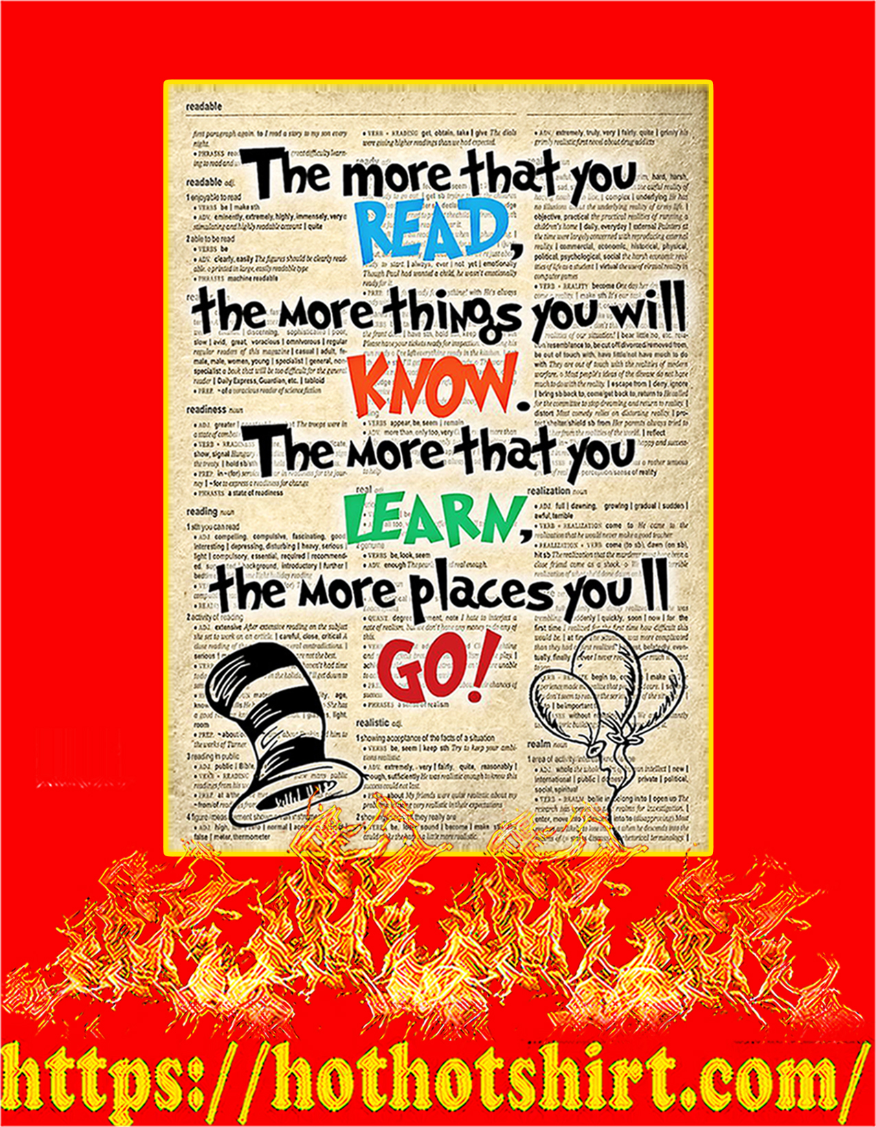 Dr seuss the more that you read poster - A2