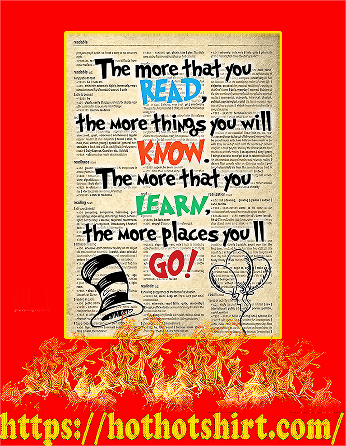 Dr seuss the more that you read poster - A4