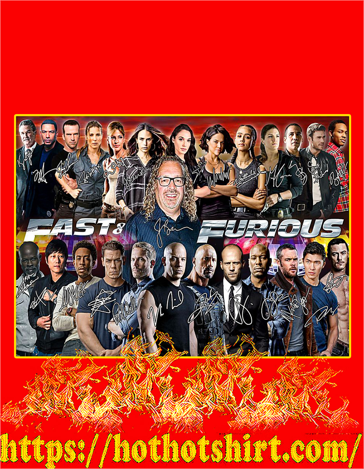 Fast and furious actor signature poster - A3