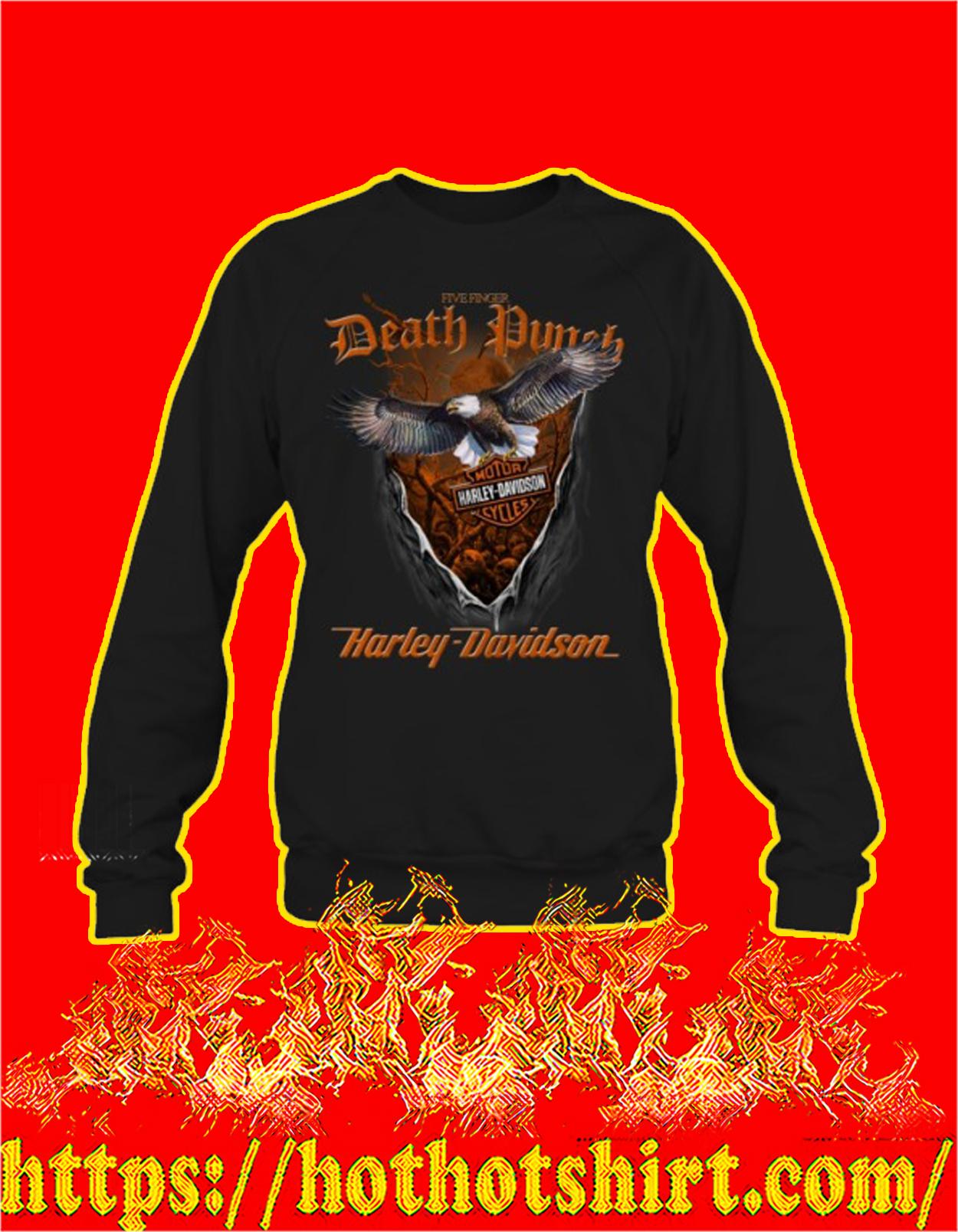 Five finger death punch harley davidson eagle sweatshirt