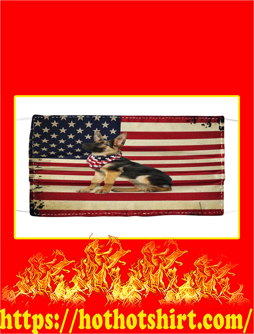 German shepherd american flag face mask- pic 1