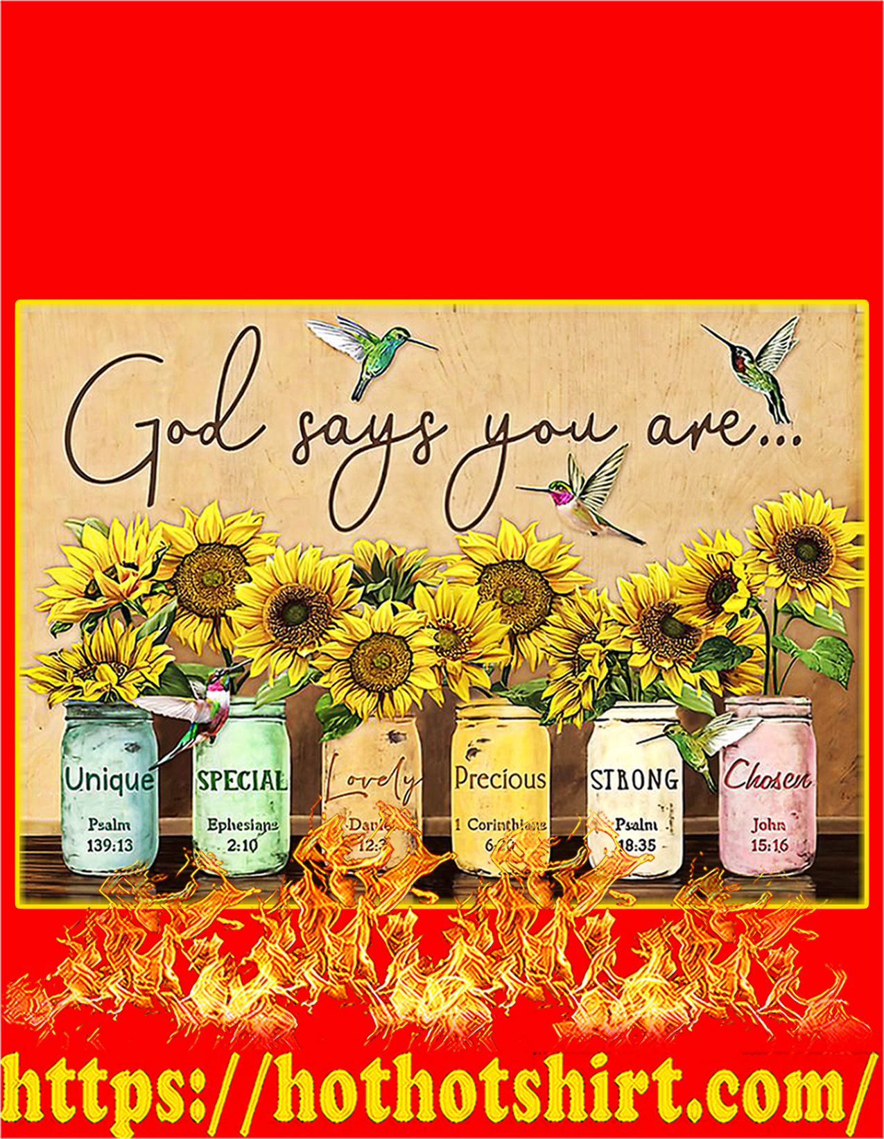 God says you are poster - A2