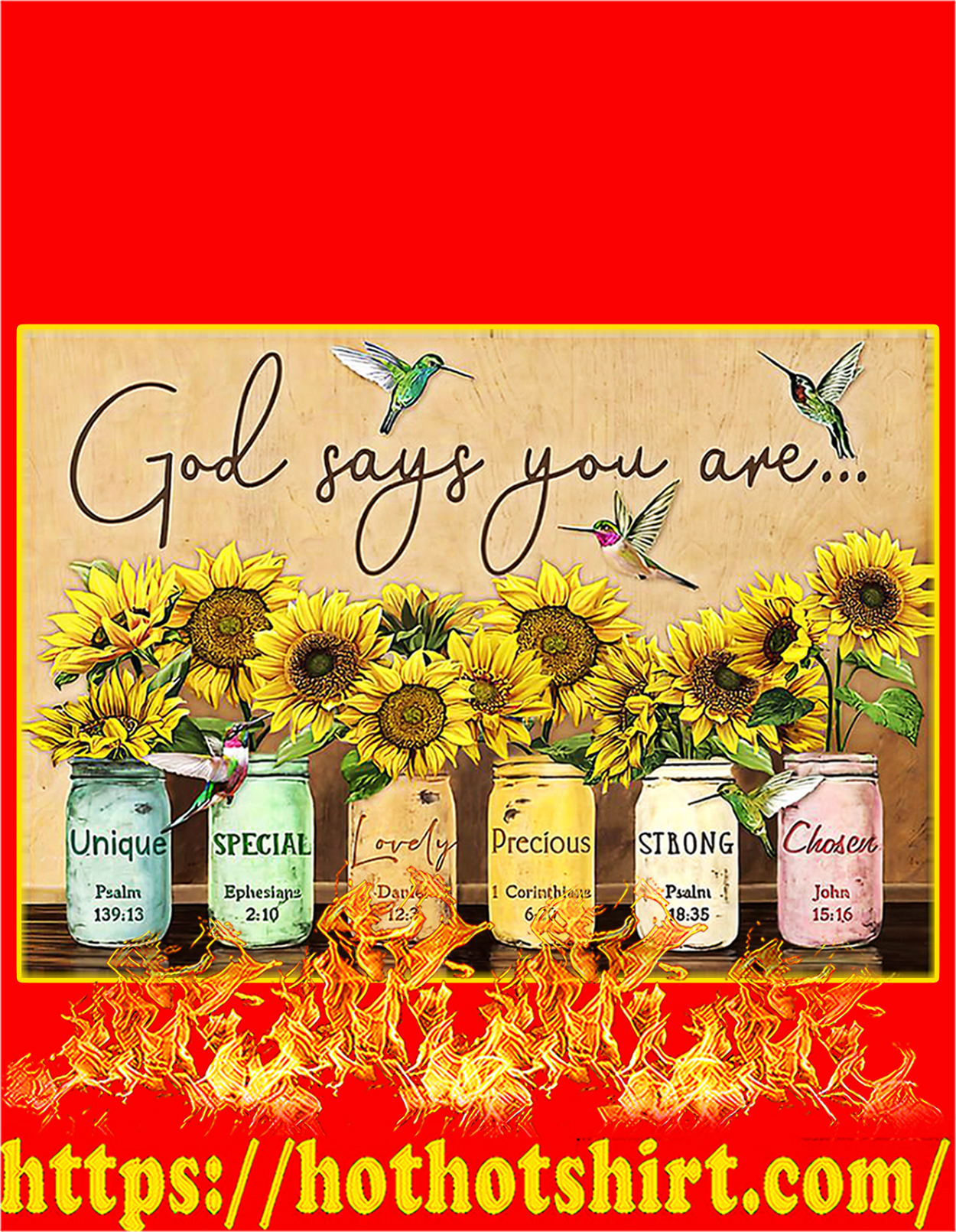 God says you are poster - A3