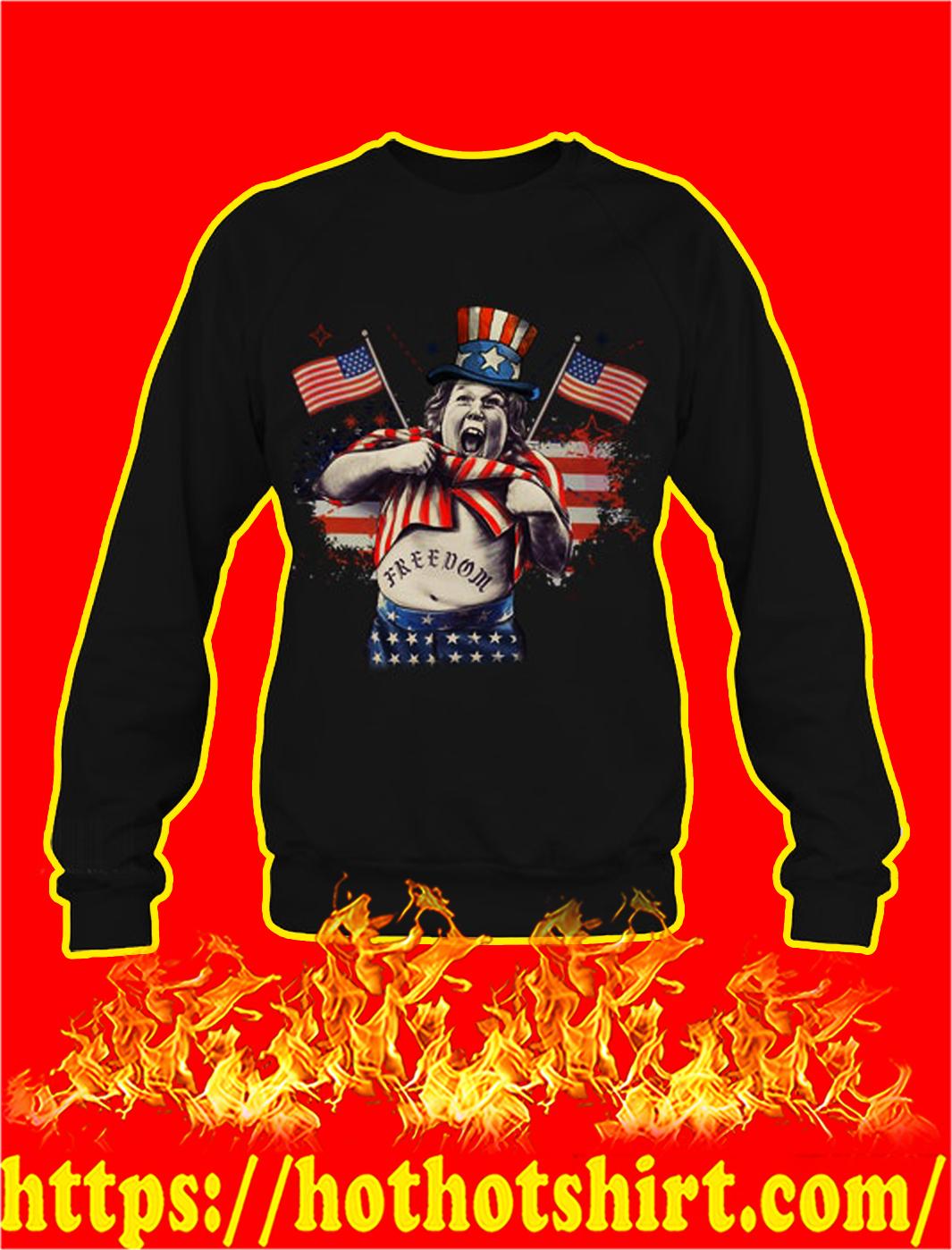 Goonies chunk freedom ndependence day sweatshirt