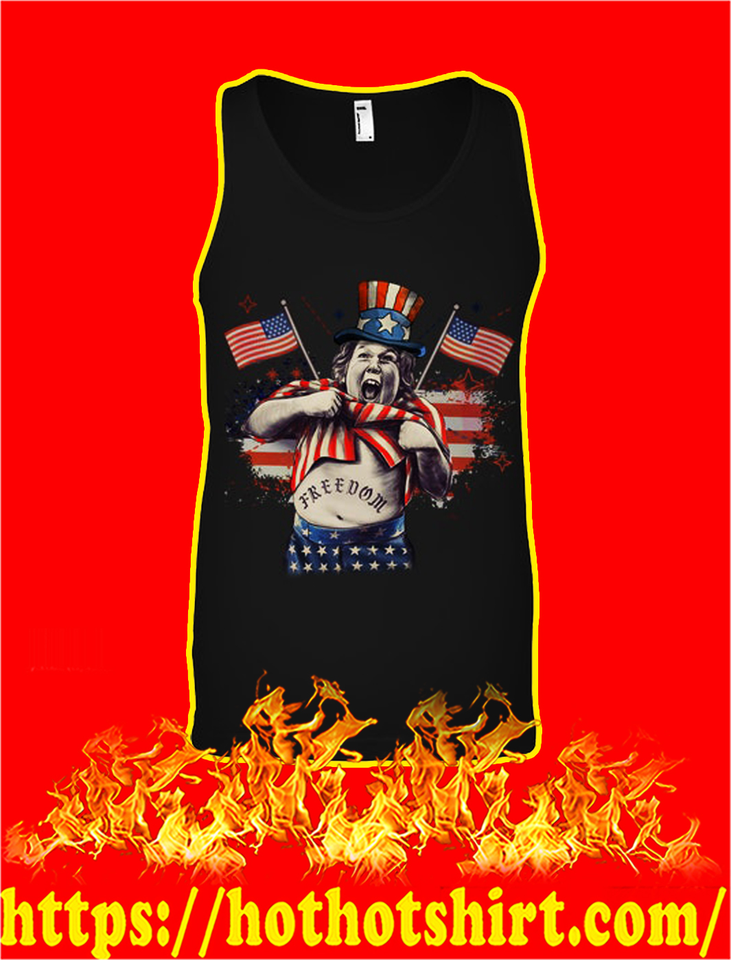 Goonies chunk freedom ndependence day tank top