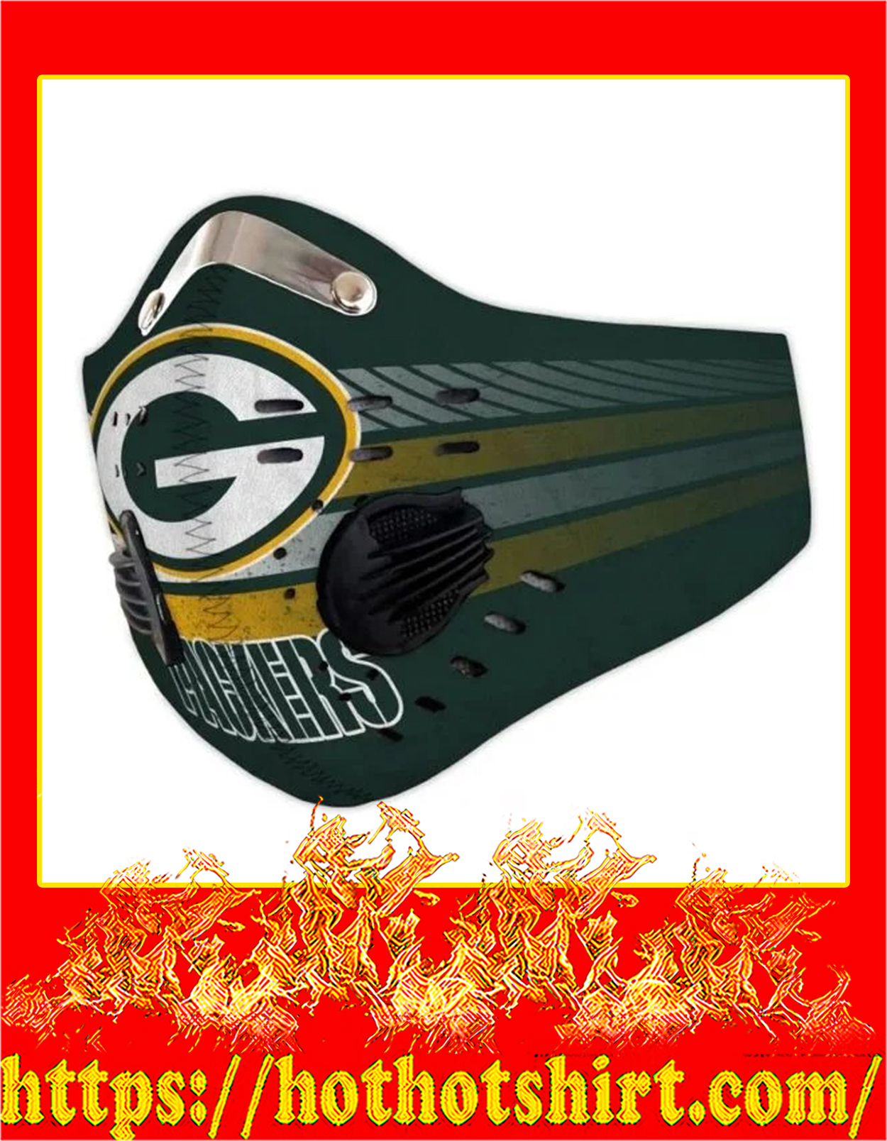 Green bay packers filter face mask - Detail