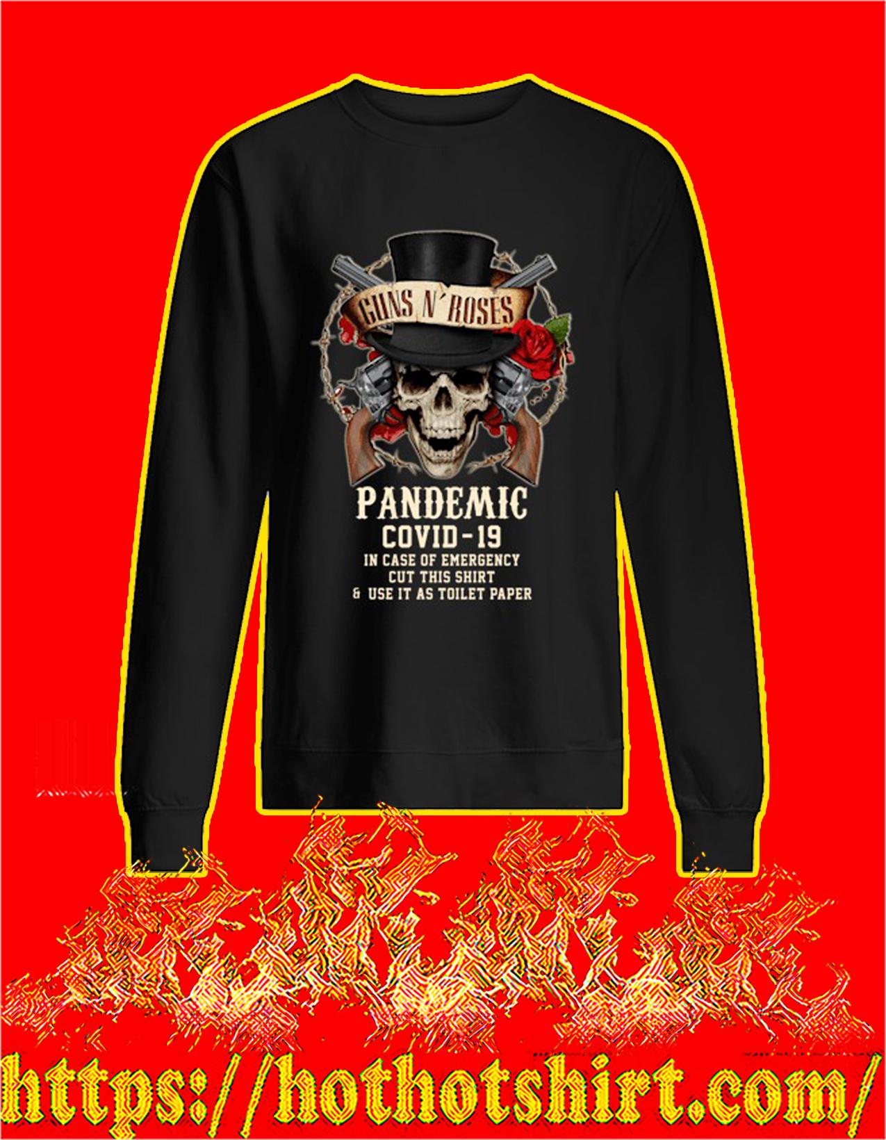 Guns n' rose pandemic covid 19 sweatshirt