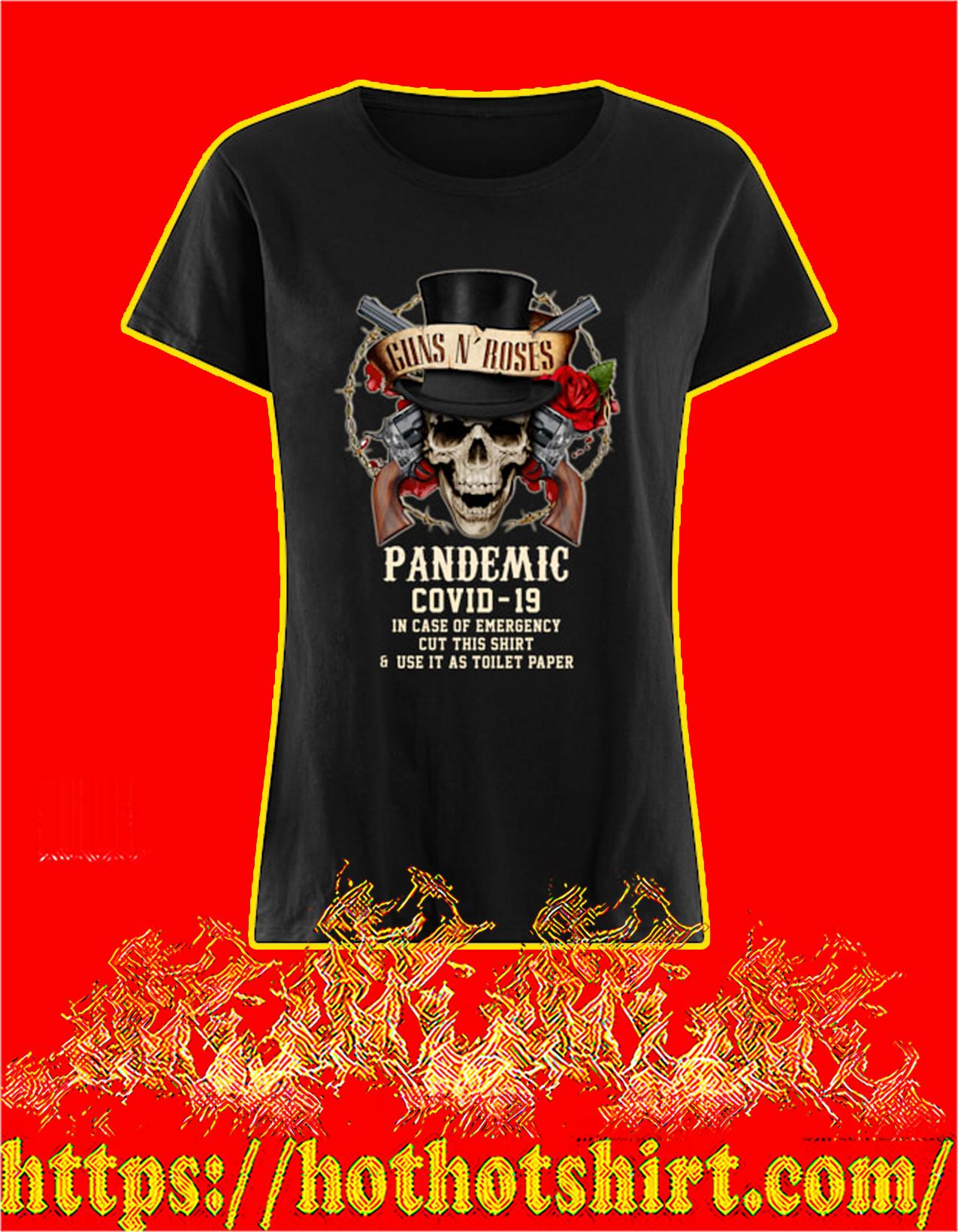 Guns n' rose pandemic covid 19 women shirt