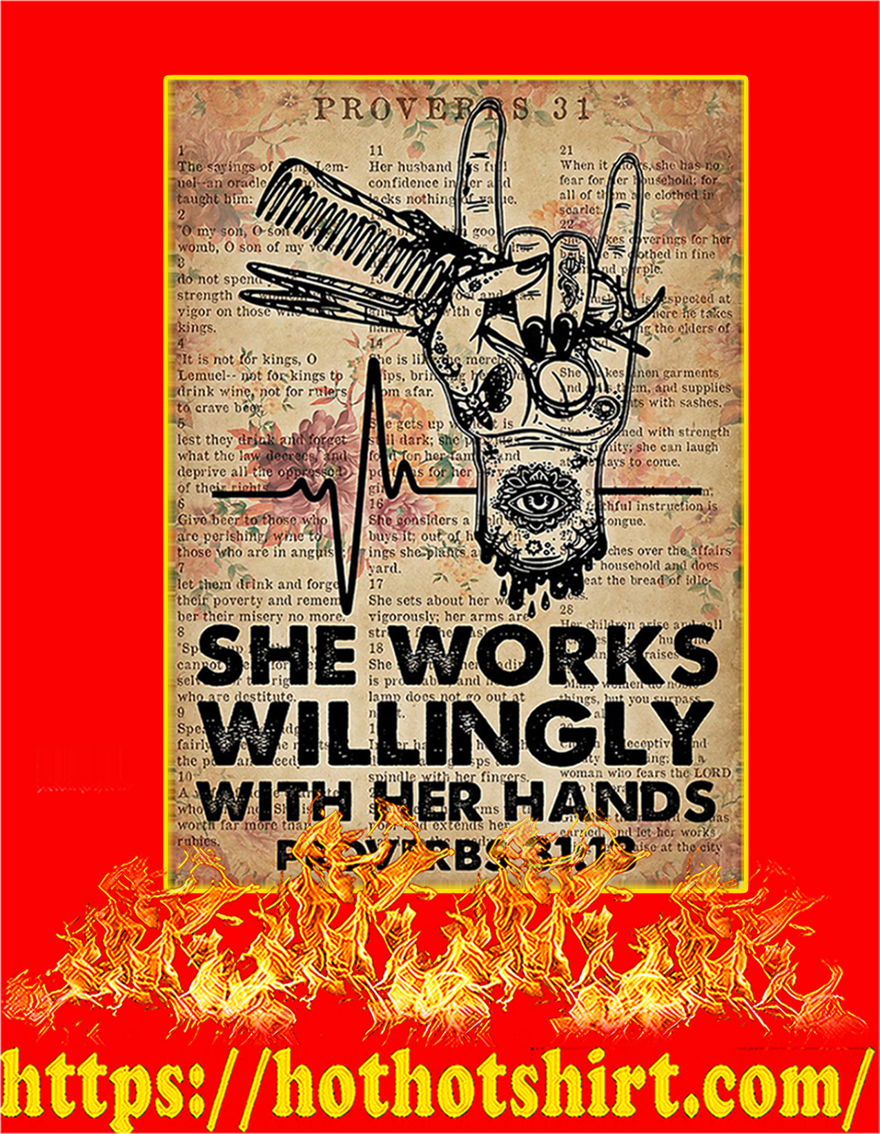 Hairdresser She Works Willingly With Her Hands Poster - A2