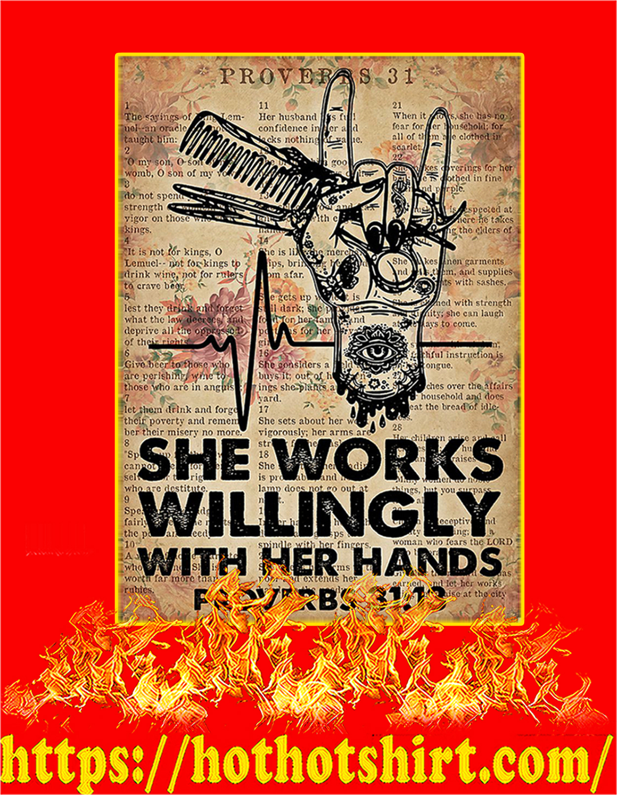 Hairdresser She Works Willingly With Her Hands Poster - A3