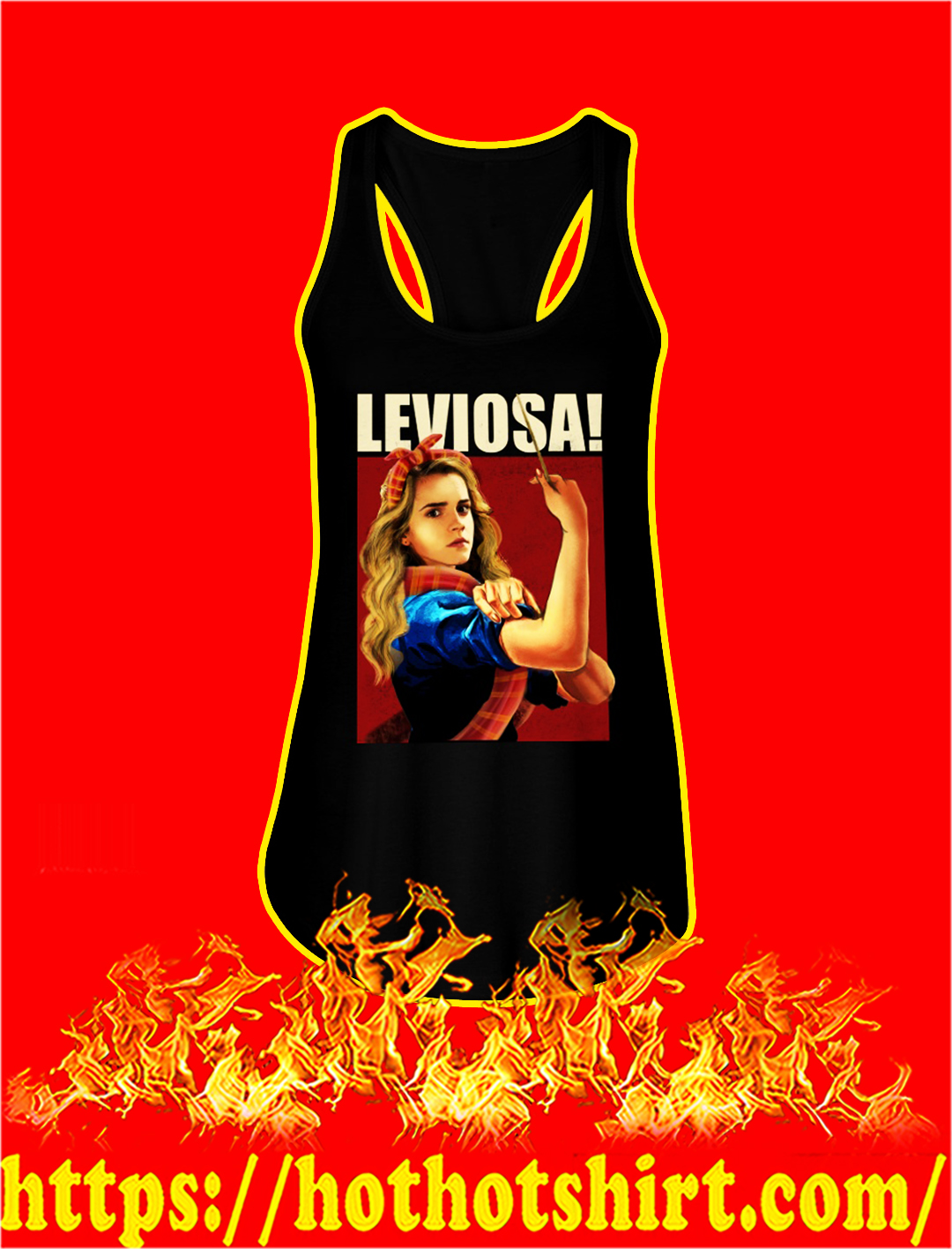 Hermione leviosa stay strong flowy tank