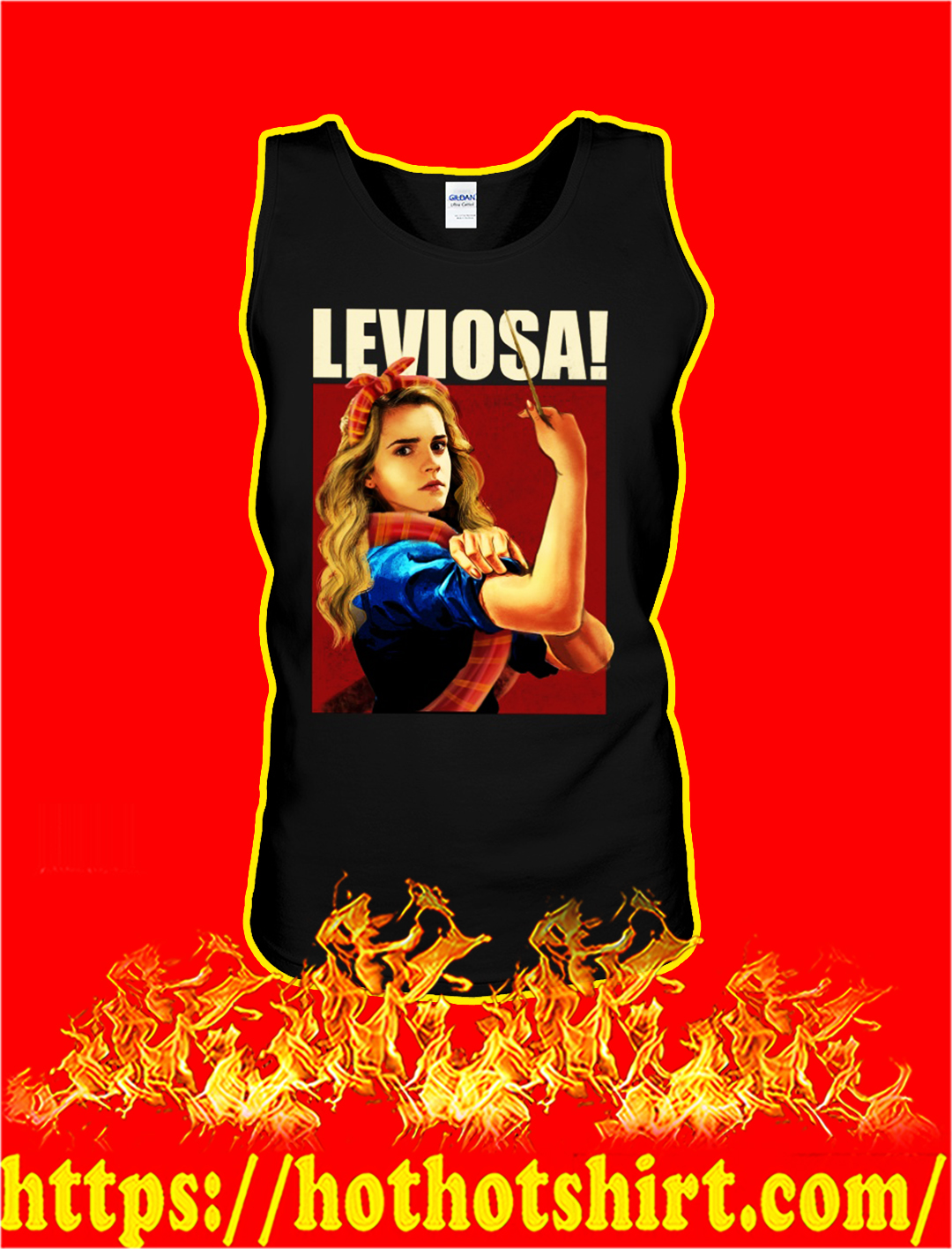 Hermione leviosa stay strong tank top