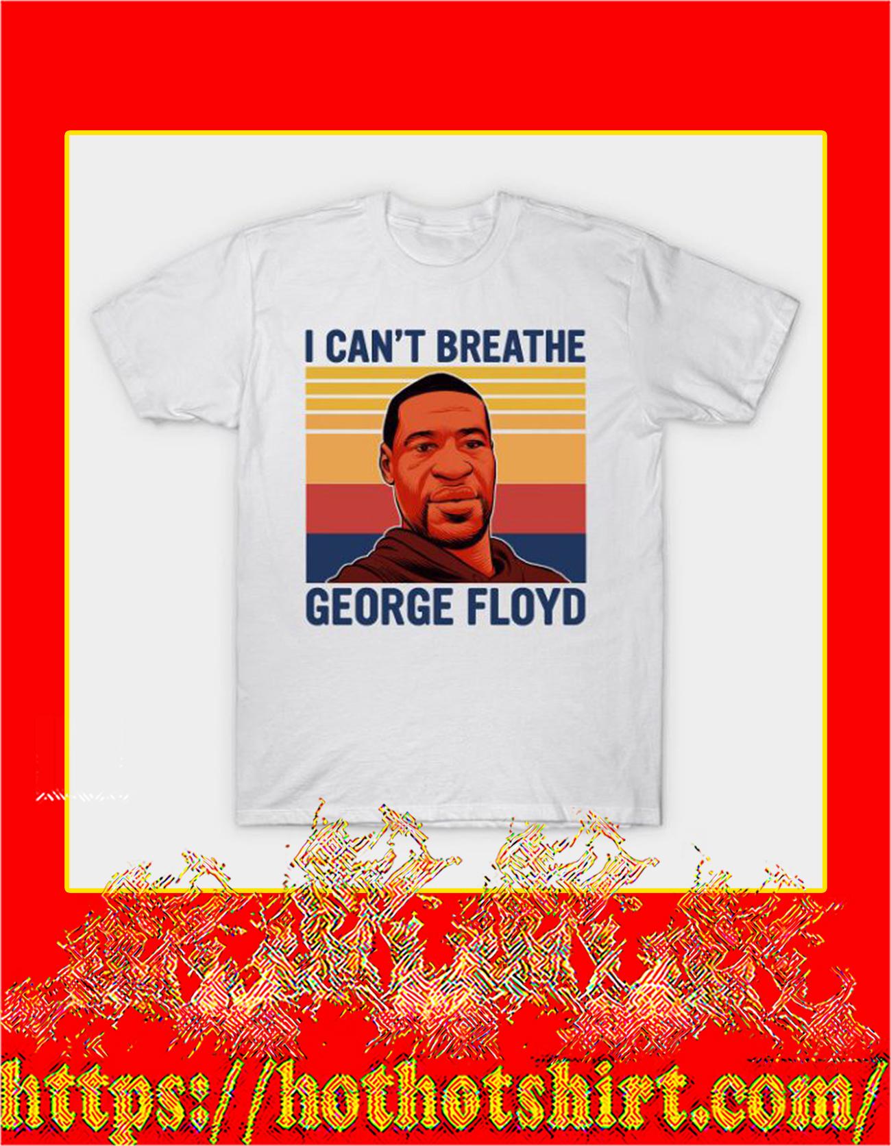 I can't breathe george floyd shirt - detail