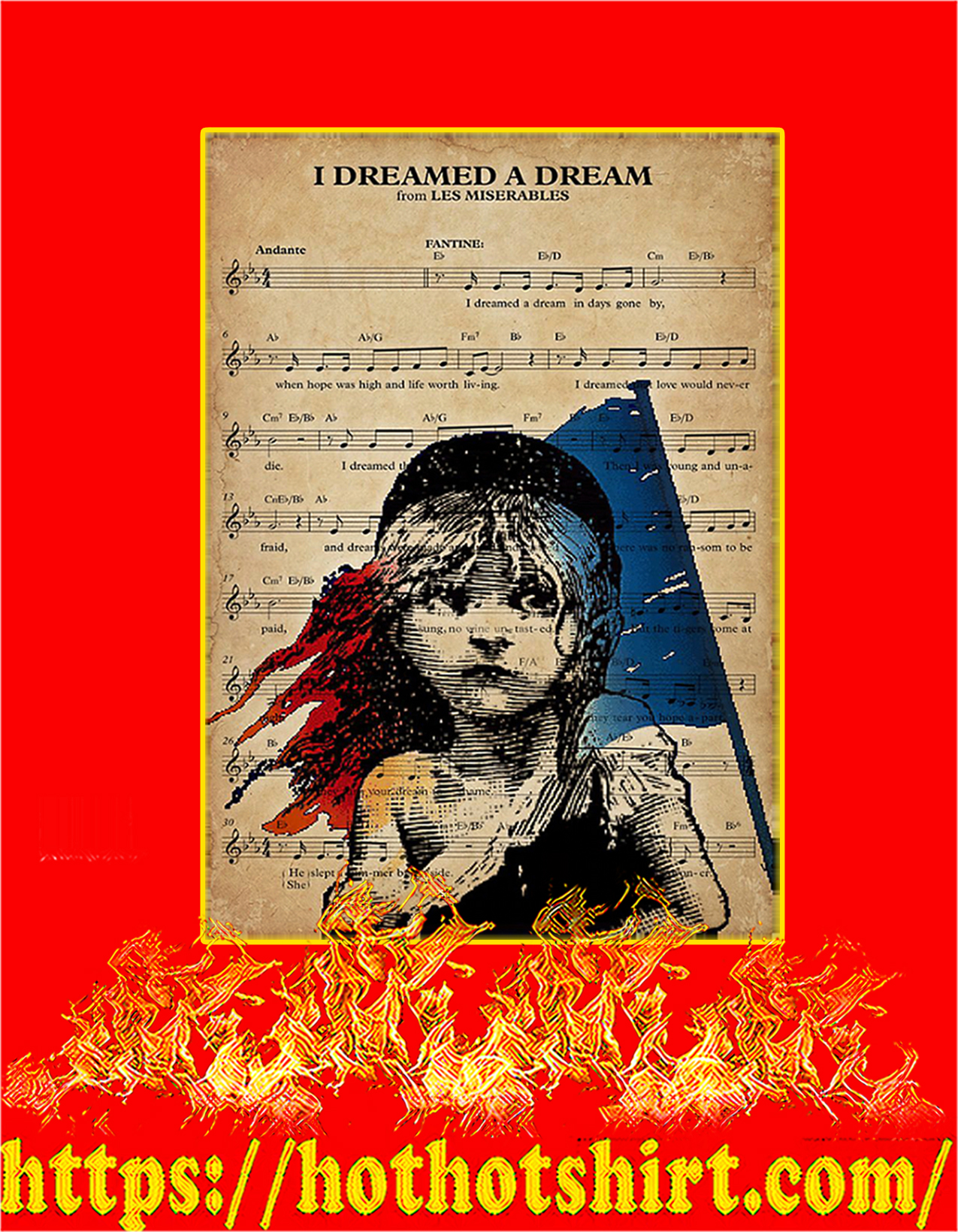 I dreamed a dream from les miserables poster - A2