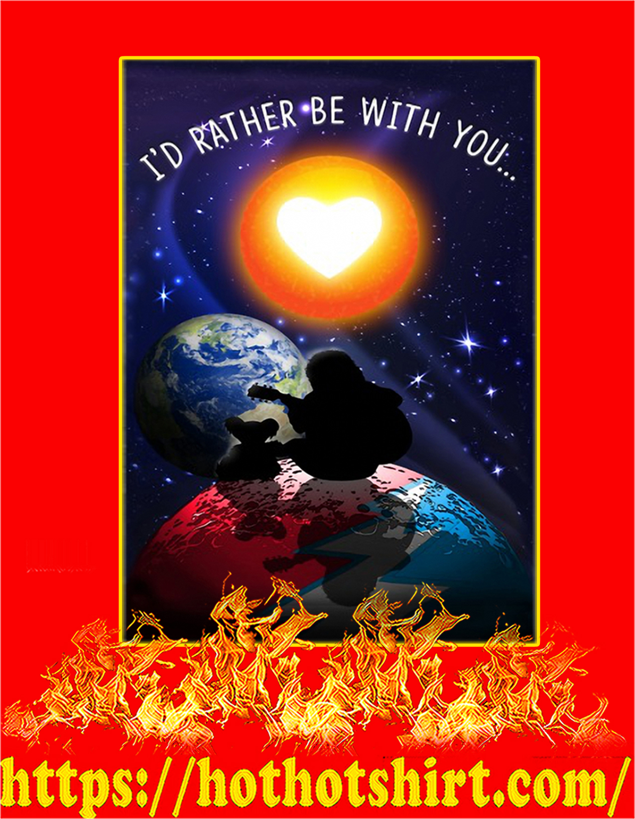 I'd rather be with you steven universe poster - A2