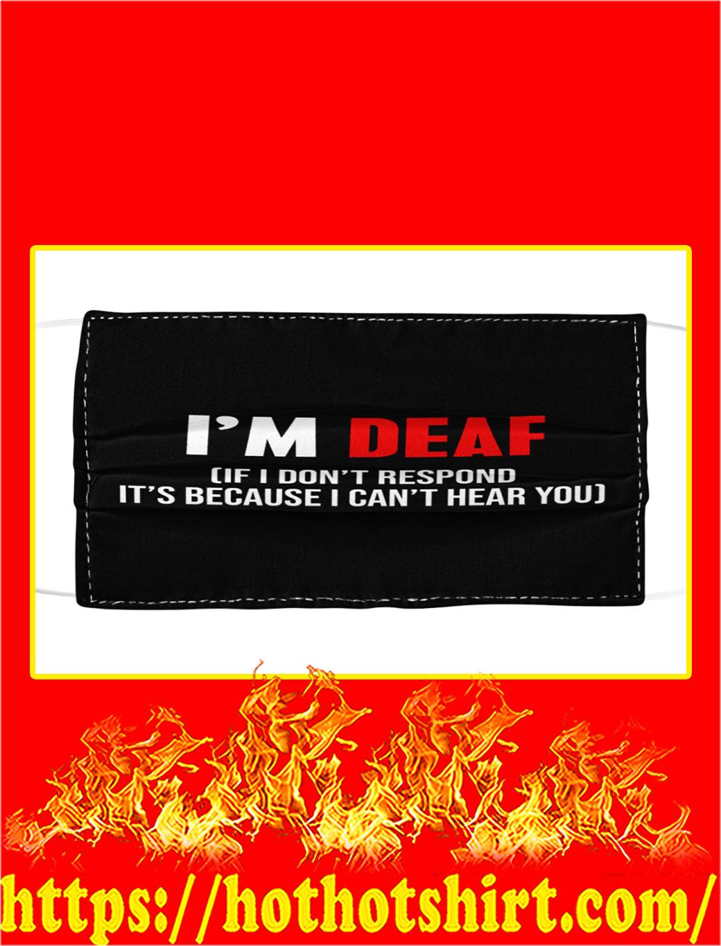 I'm deaf face mask- pic 1