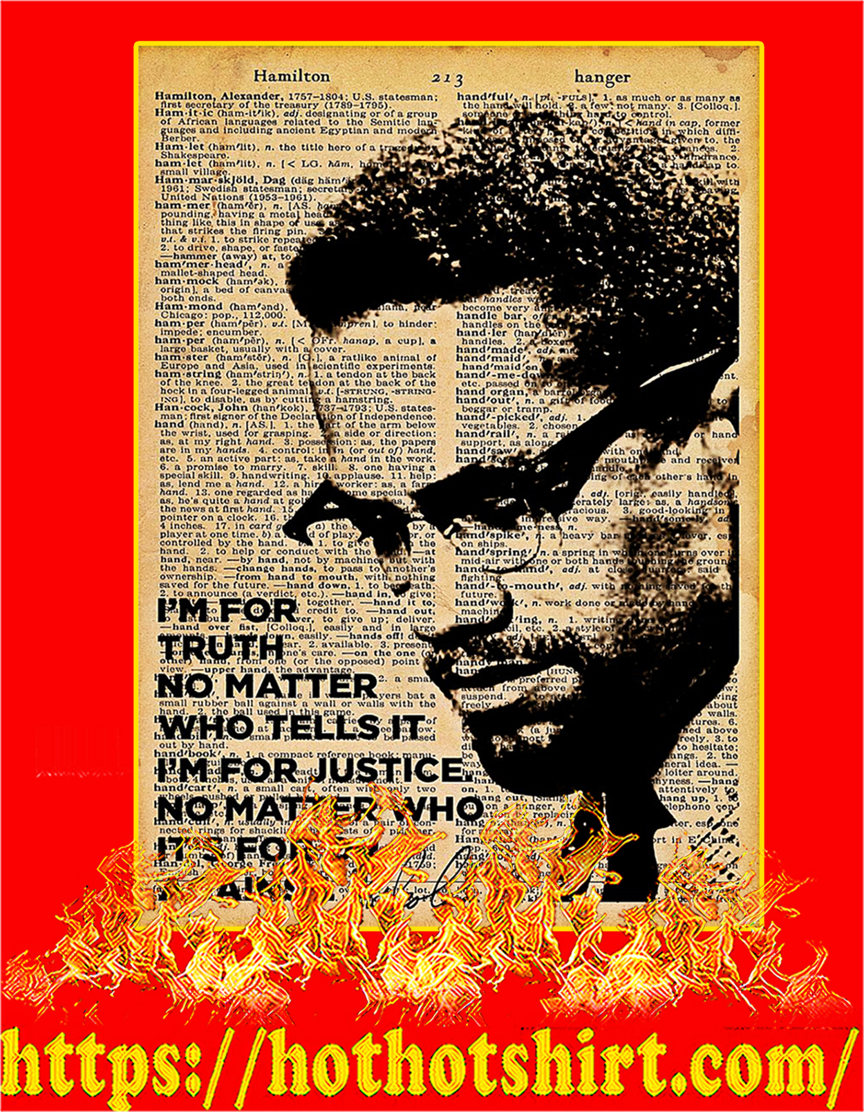 I'm for truth no matter who tells it poster - A3