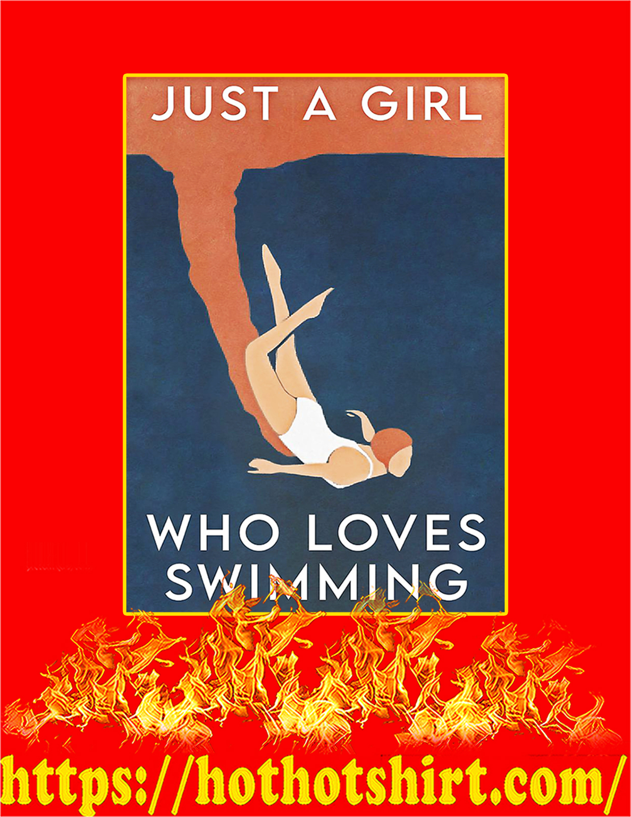 Just a girl who loves swimming poster - A3