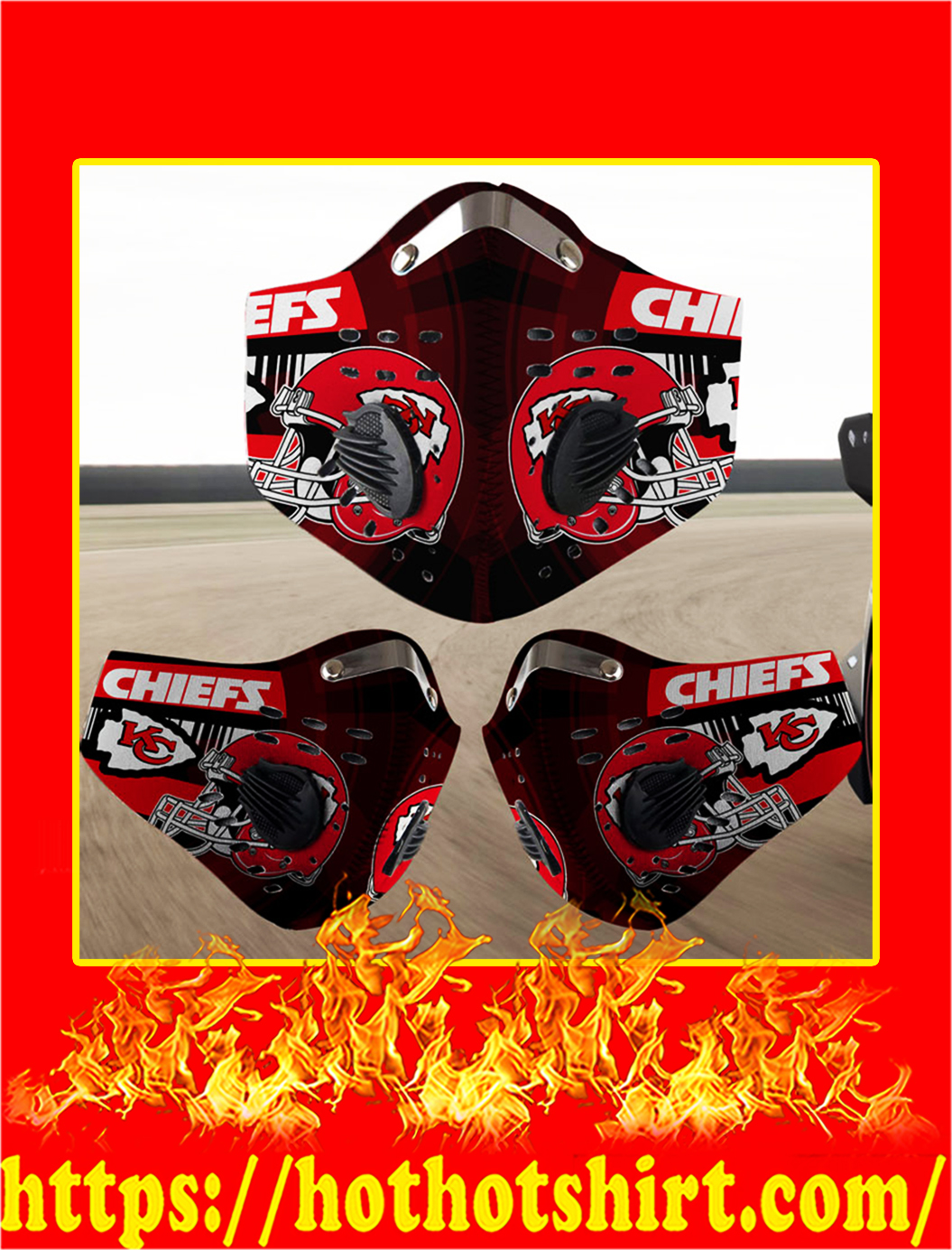 Kansas City Chiefs filter face mask- pic 1