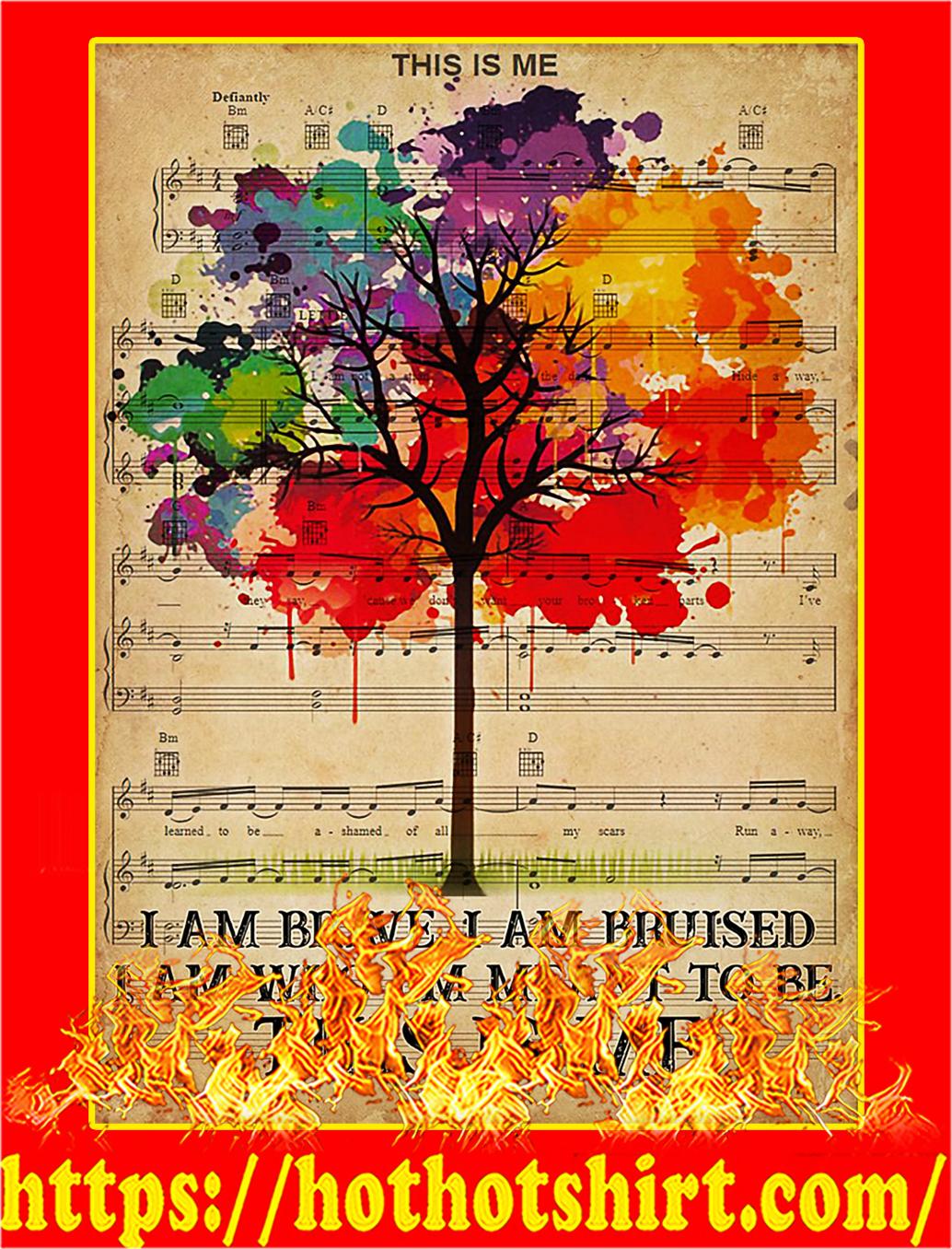 LGBT I am brave poster - A1